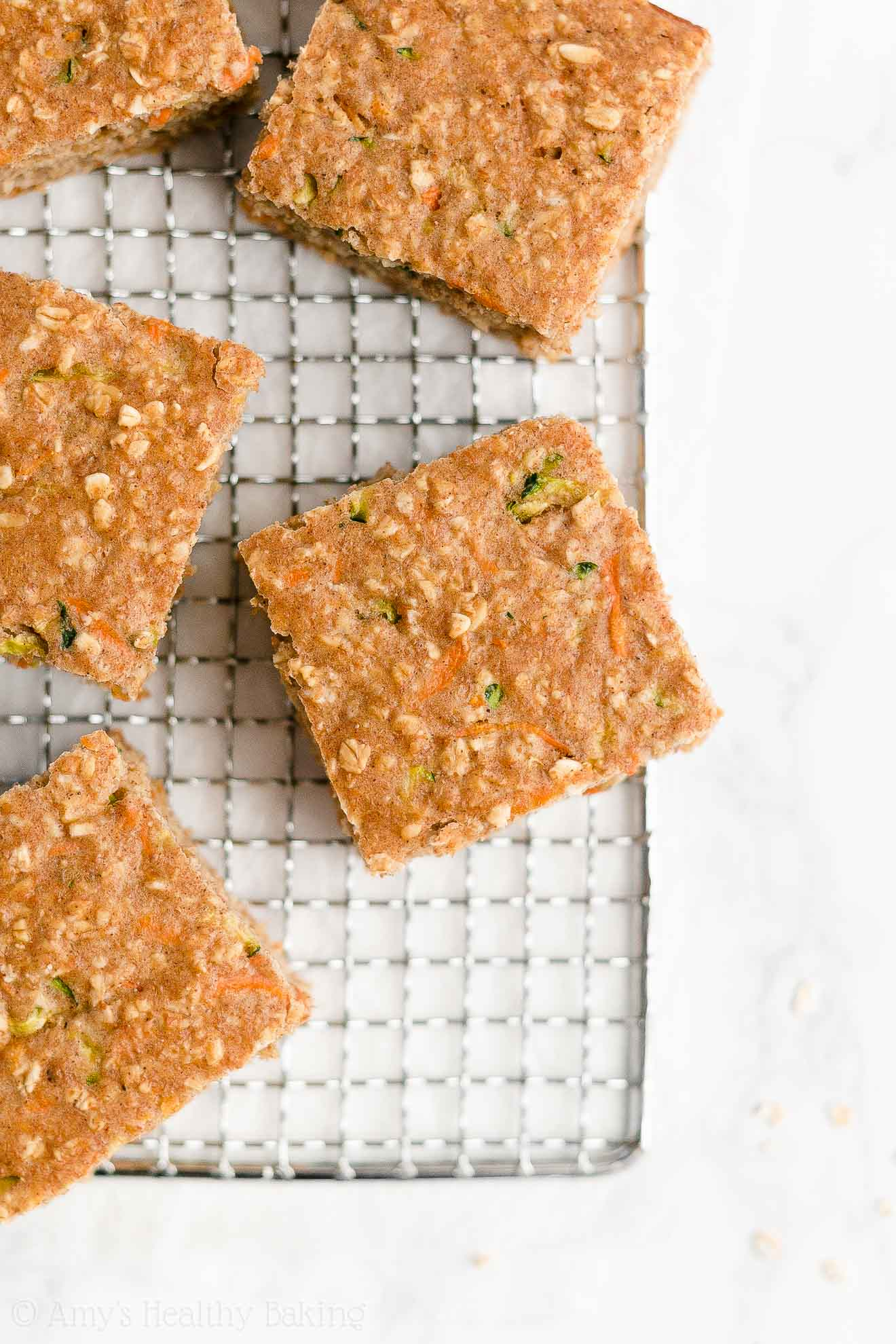 Easy Healthy Weight Watchers Low Calorie Carrot Zucchini Oatmeal Snack Cake