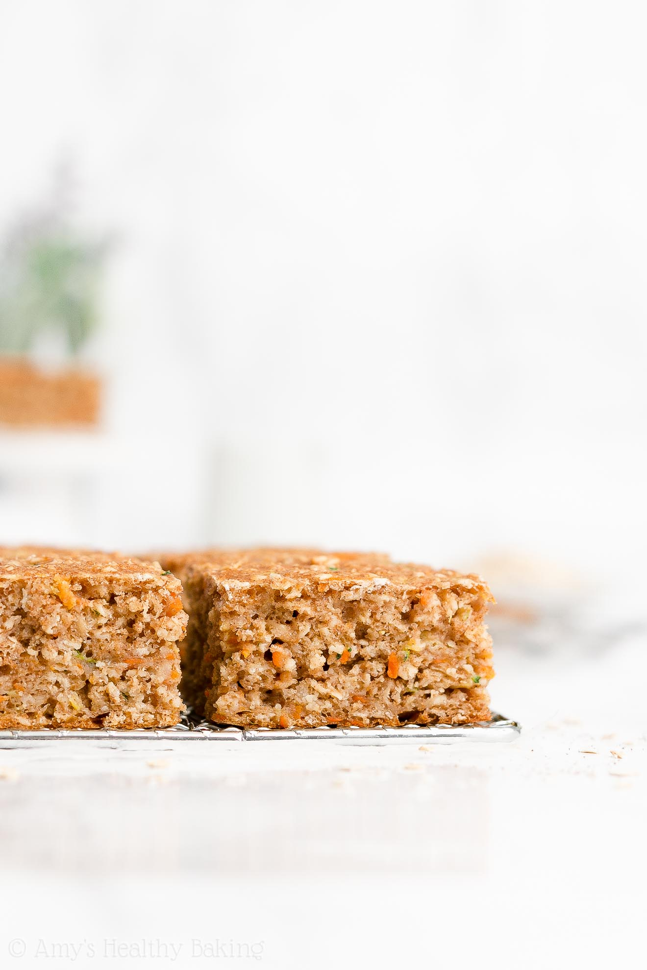 Easy Healthy Whole Wheat Low Fat Moist Carrot Zucchini Oatmeal Snack Cake