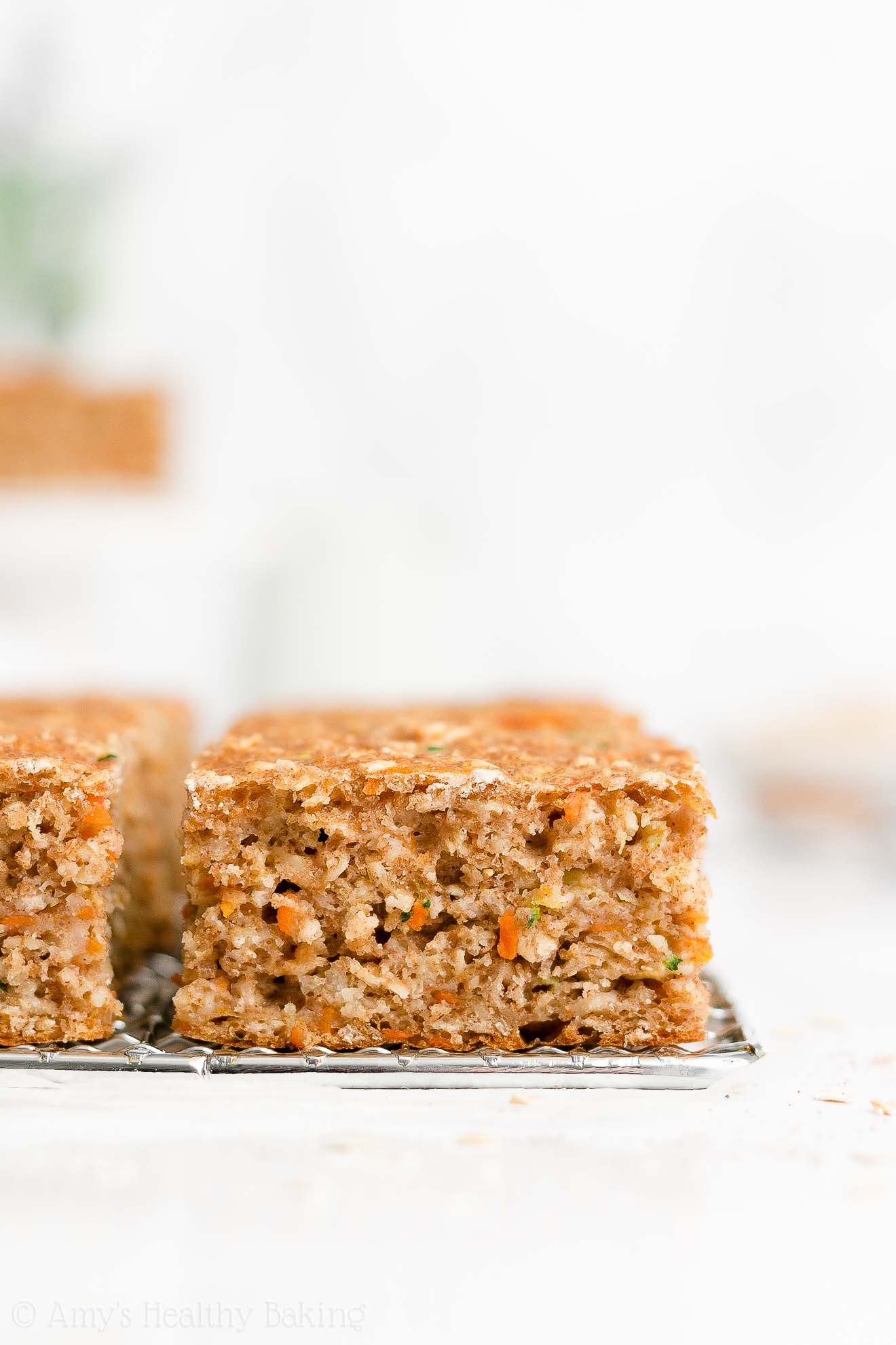 Easy Healthy Clean Eating Greek Yogurt Moist Carrot Zucchini Oatmeal Snack Cake