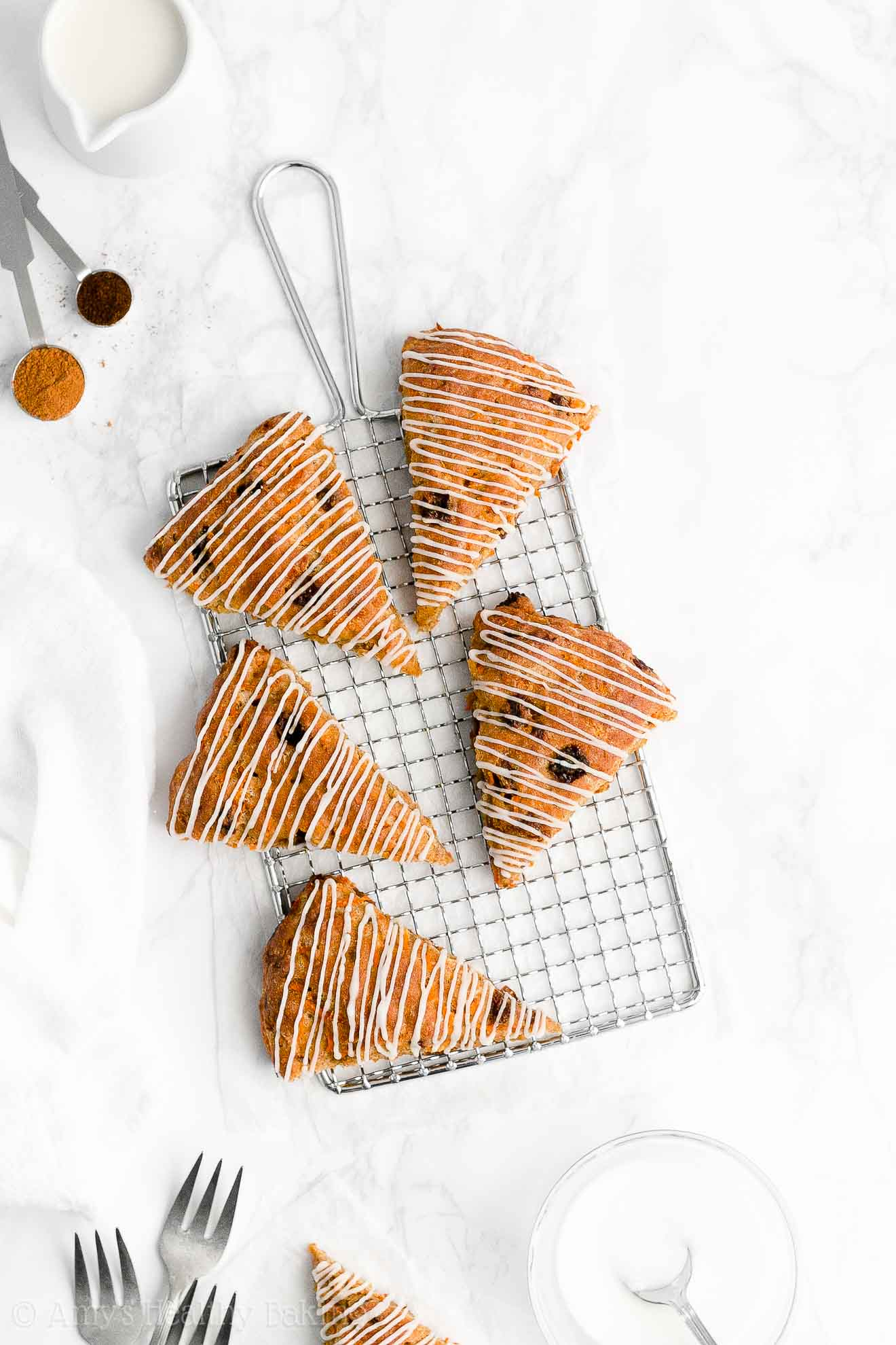 Easy Healthy Clean Eating Low Calorie Greek Yogurt Chai Spice Carrot Raisin Scones