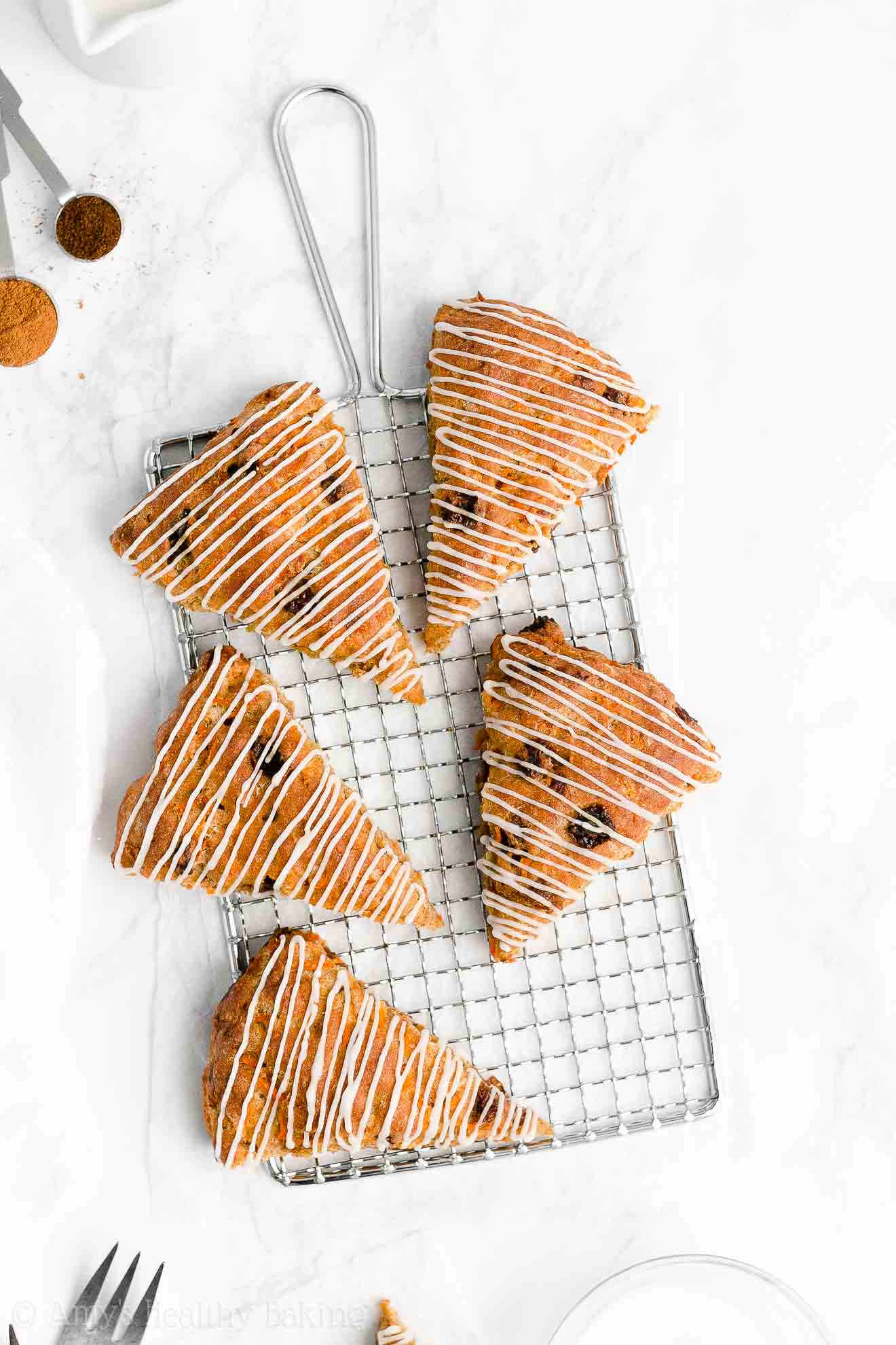 Easy Healthy Gluten Free Low Calorie Low Fat Chai Spice Carrot Raisin Scones