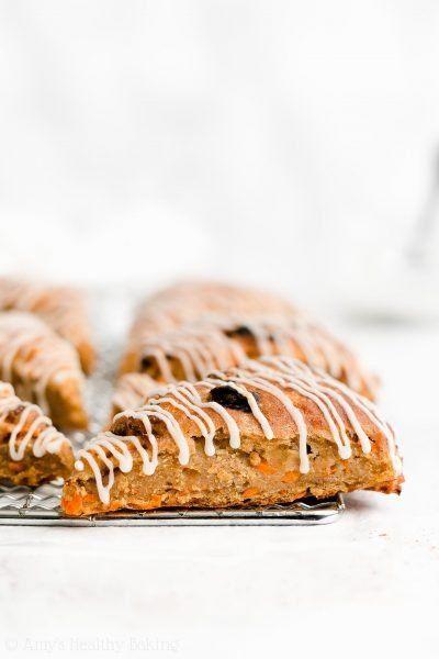 Healthy Spiced Carrot Raisin Scones