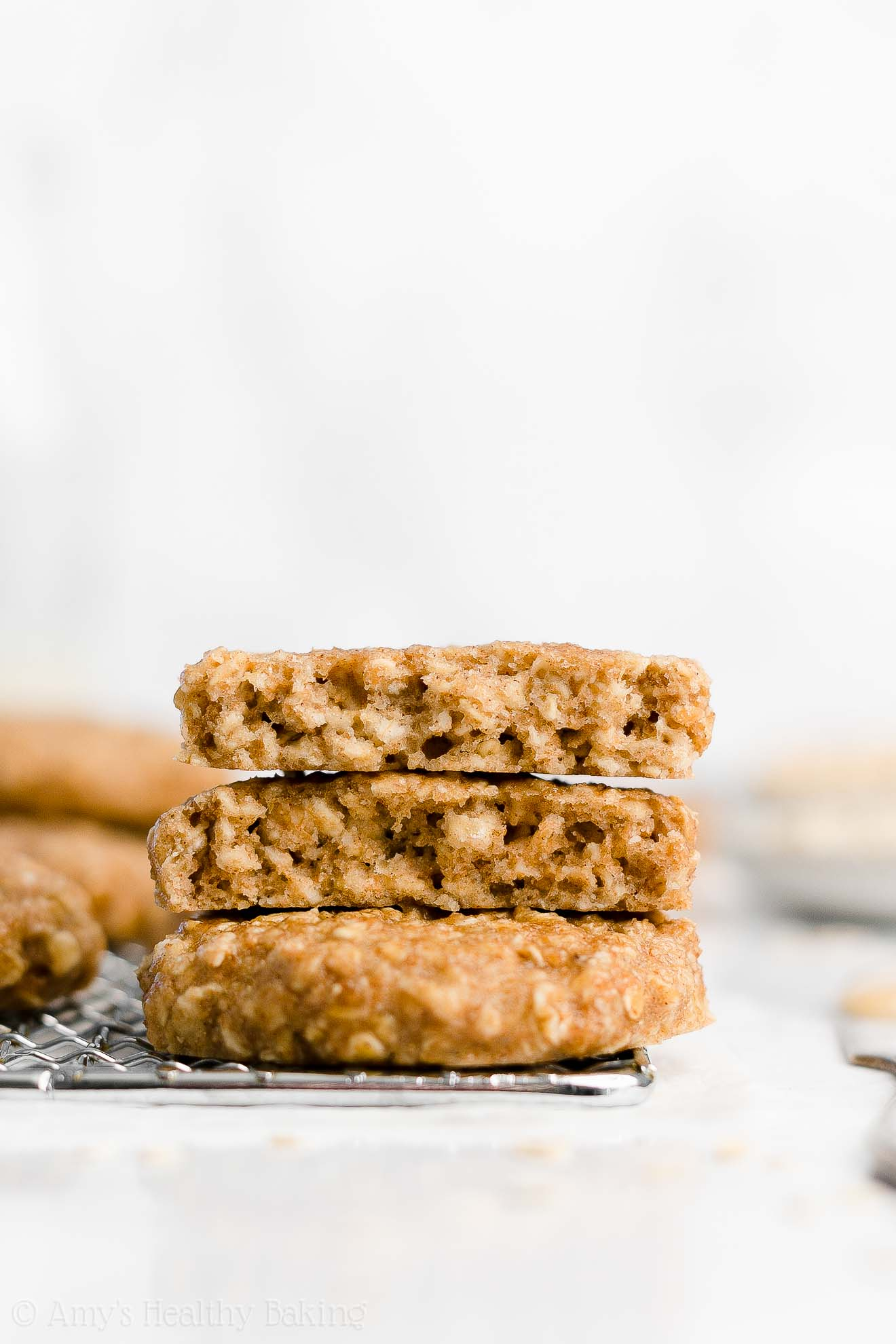 Easy Healthy Vegan Gluten Free Peanut Butter Banana Oatmeal Breakfast Cookies