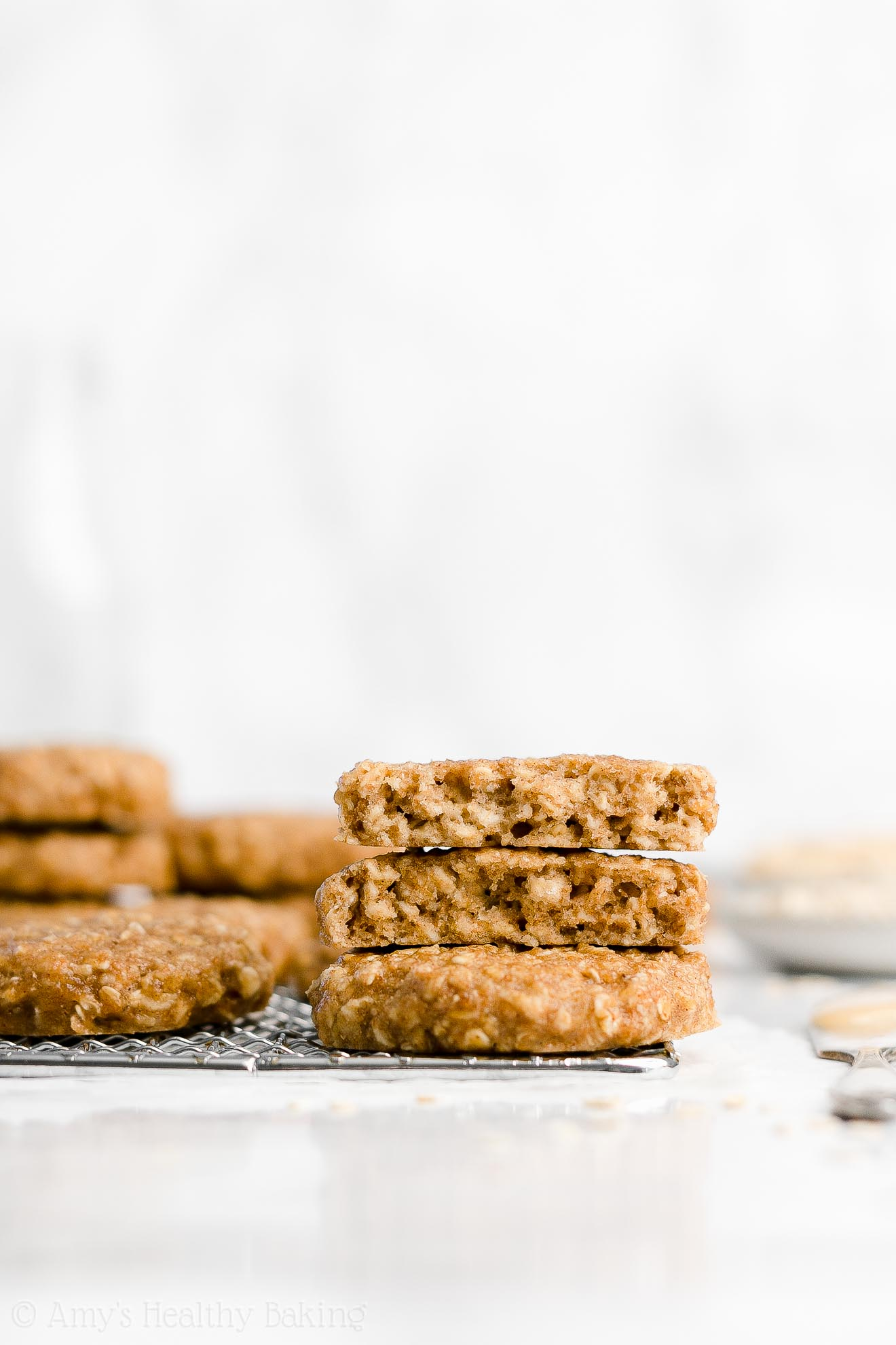 Easy Healthy Dairy Free Low Fat Peanut Butter Banana Oatmeal Breakfast Cookies