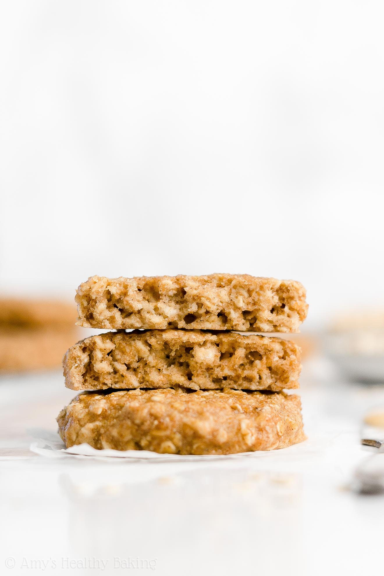 Easy Healthy Clean Eating Chewy Peanut Butter Banana Oatmeal Breakfast Cookies