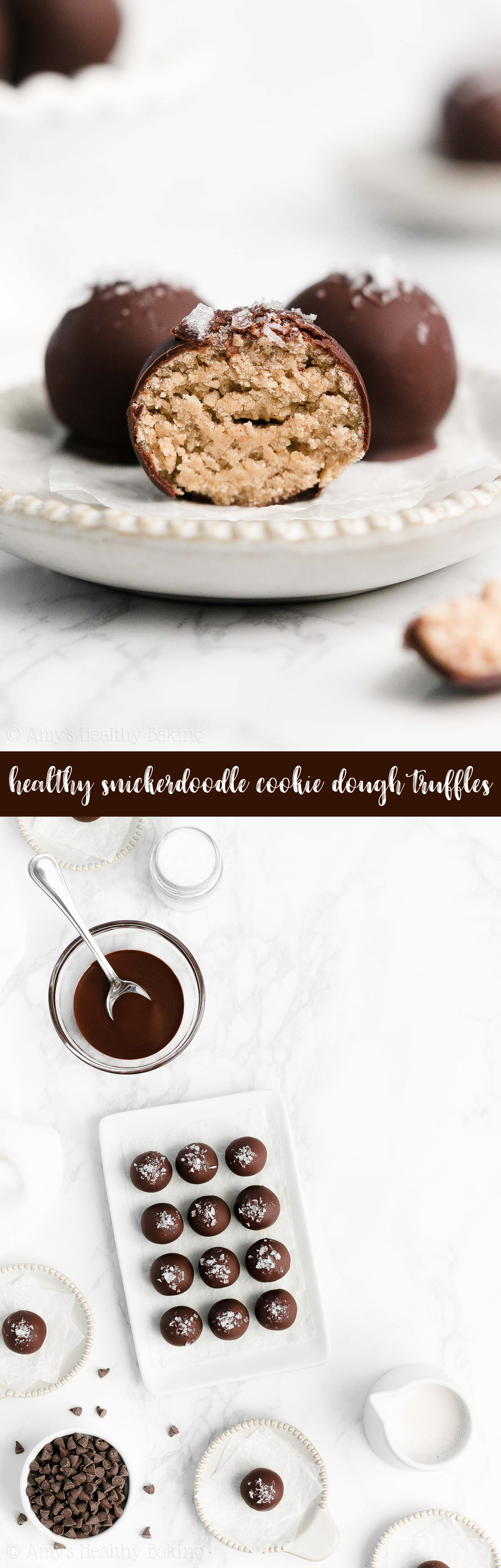 Best Easy Healthy Vegan No Bake No Sugar Edible Eggless Snickerdoodle Cookie Dough Truffles