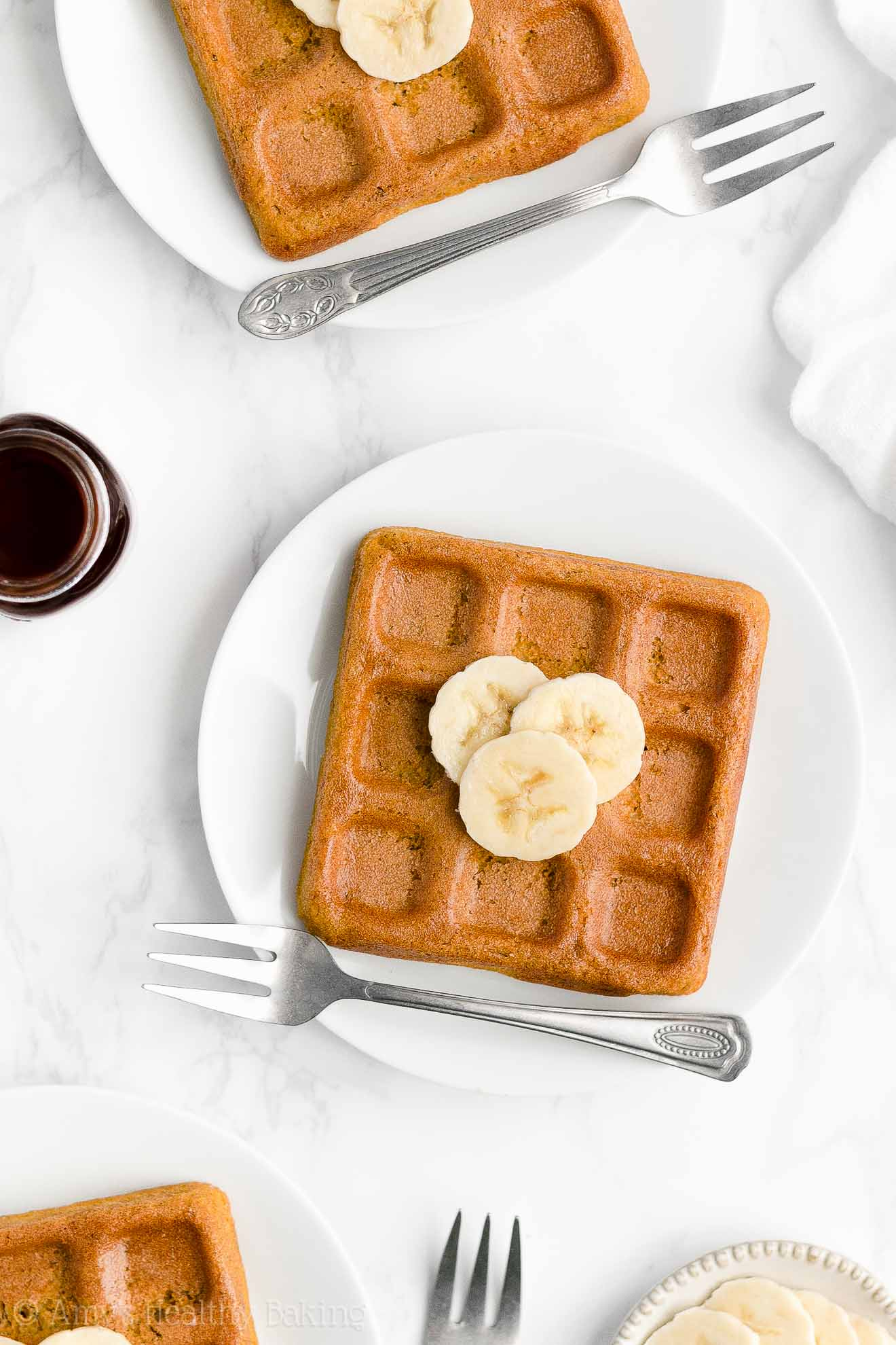Best Easy Healthy Gluten Free Sugar Free Low Calorie Crispy Banana Waffles