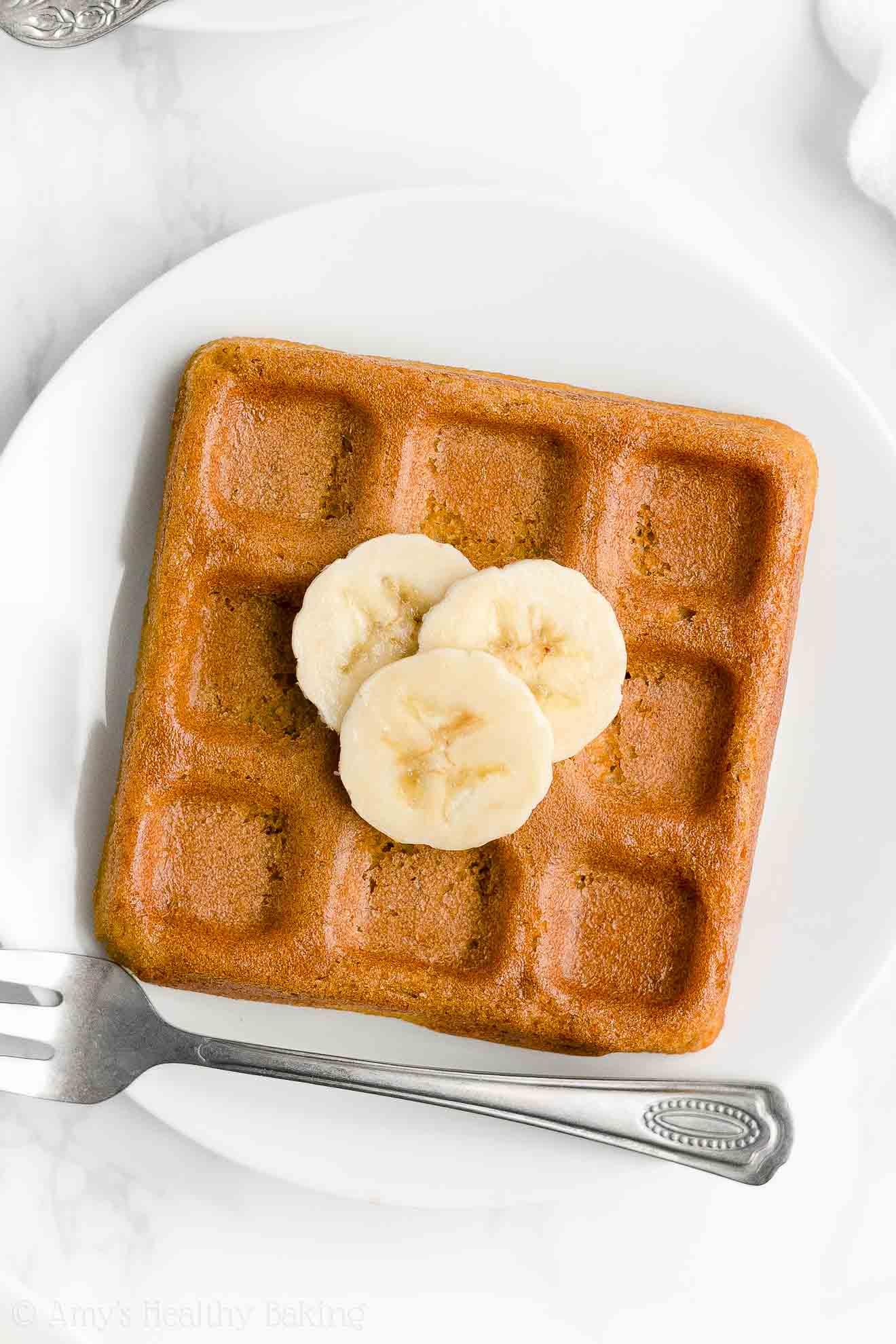 Best Easy Healthy Gluten Free Dairy Free Sugar Free Crispy Fluffy Banana Waffles