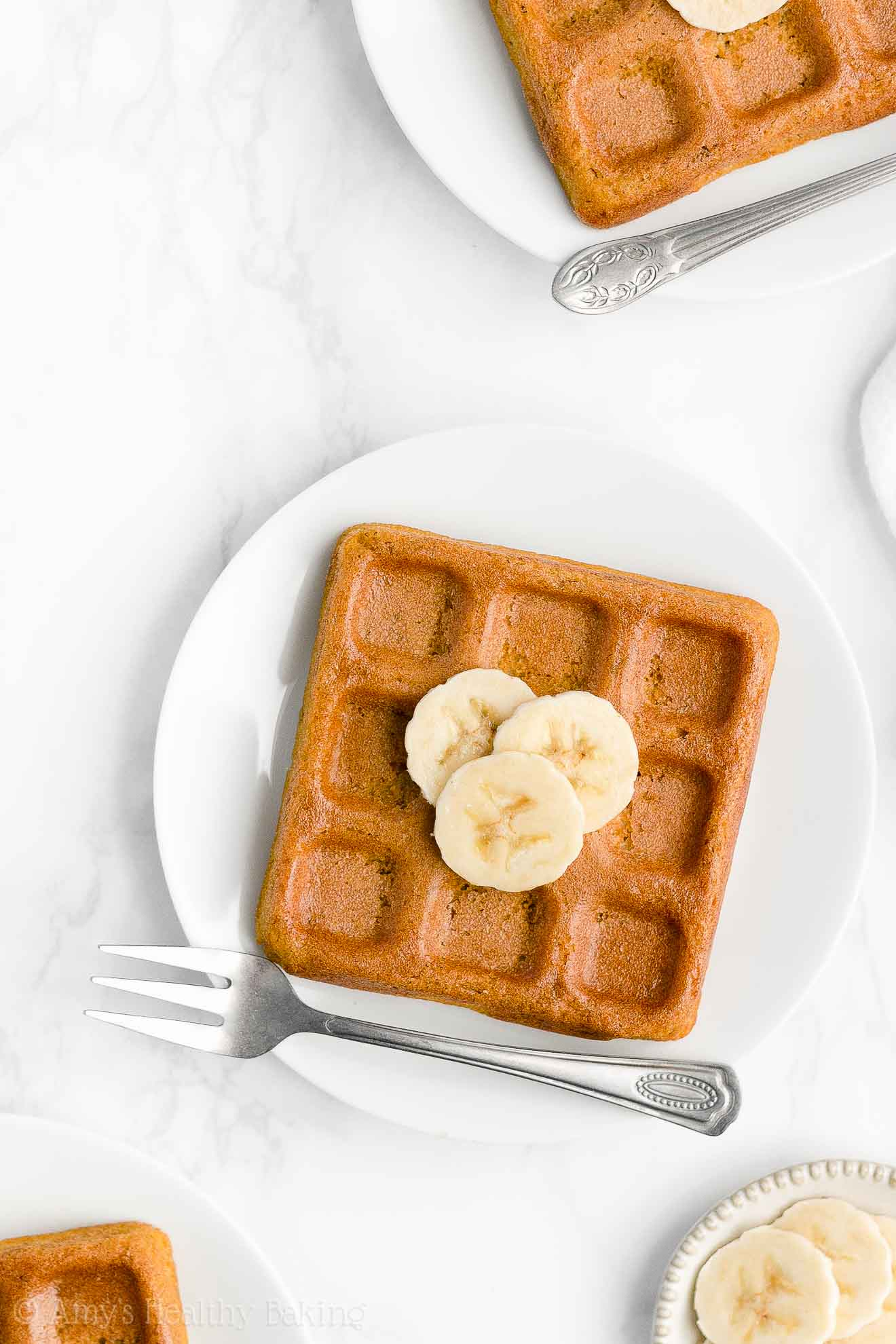 Best Easy Healthy Homemade Whole Wheat Clean Eating Crispy Banana Waffles