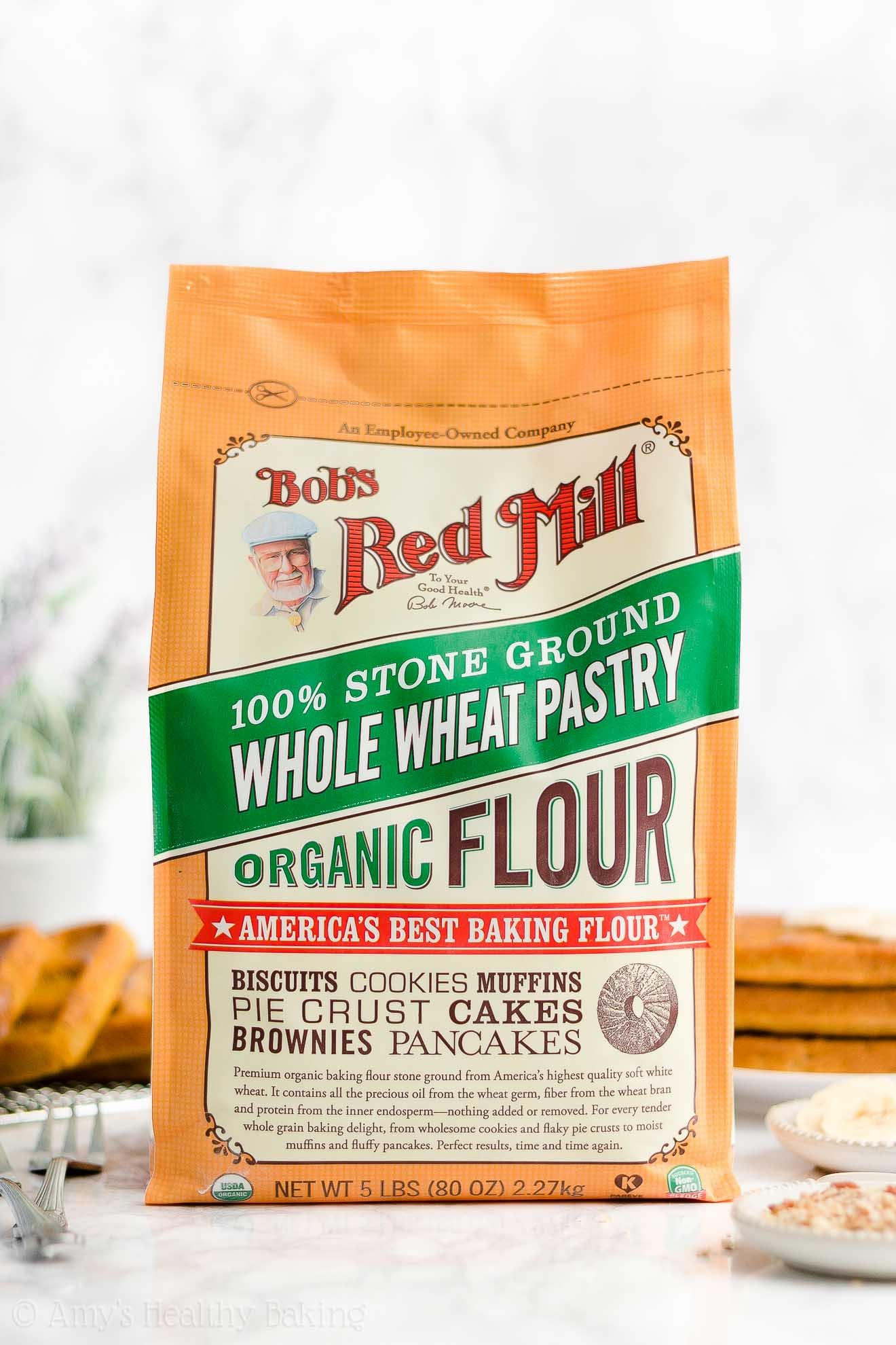 5 Pound Bag of Bob's Red Mill Organic Whole Wheat Pastry Flour