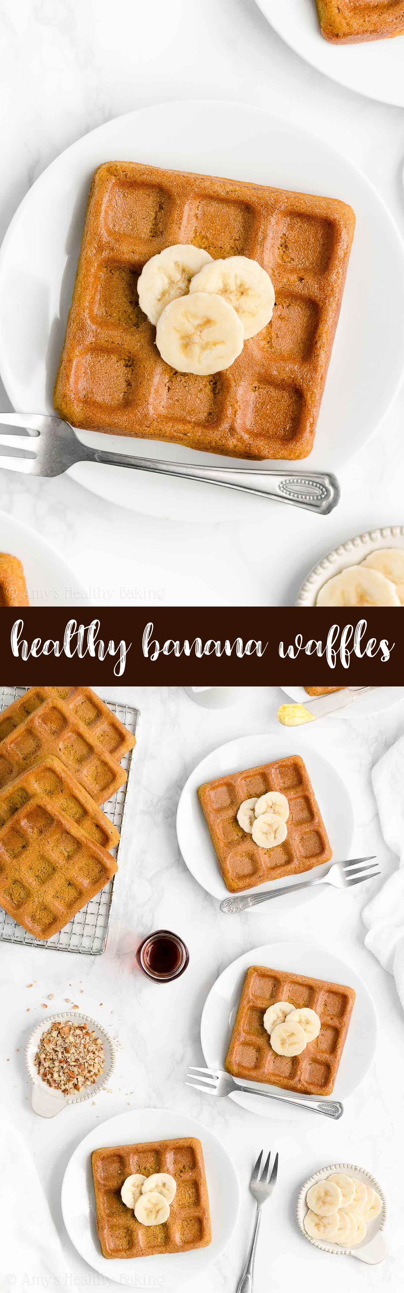 Best Ever Healthy Homemade Clean Eating Low Calorie Dairy Free Banana Waffles