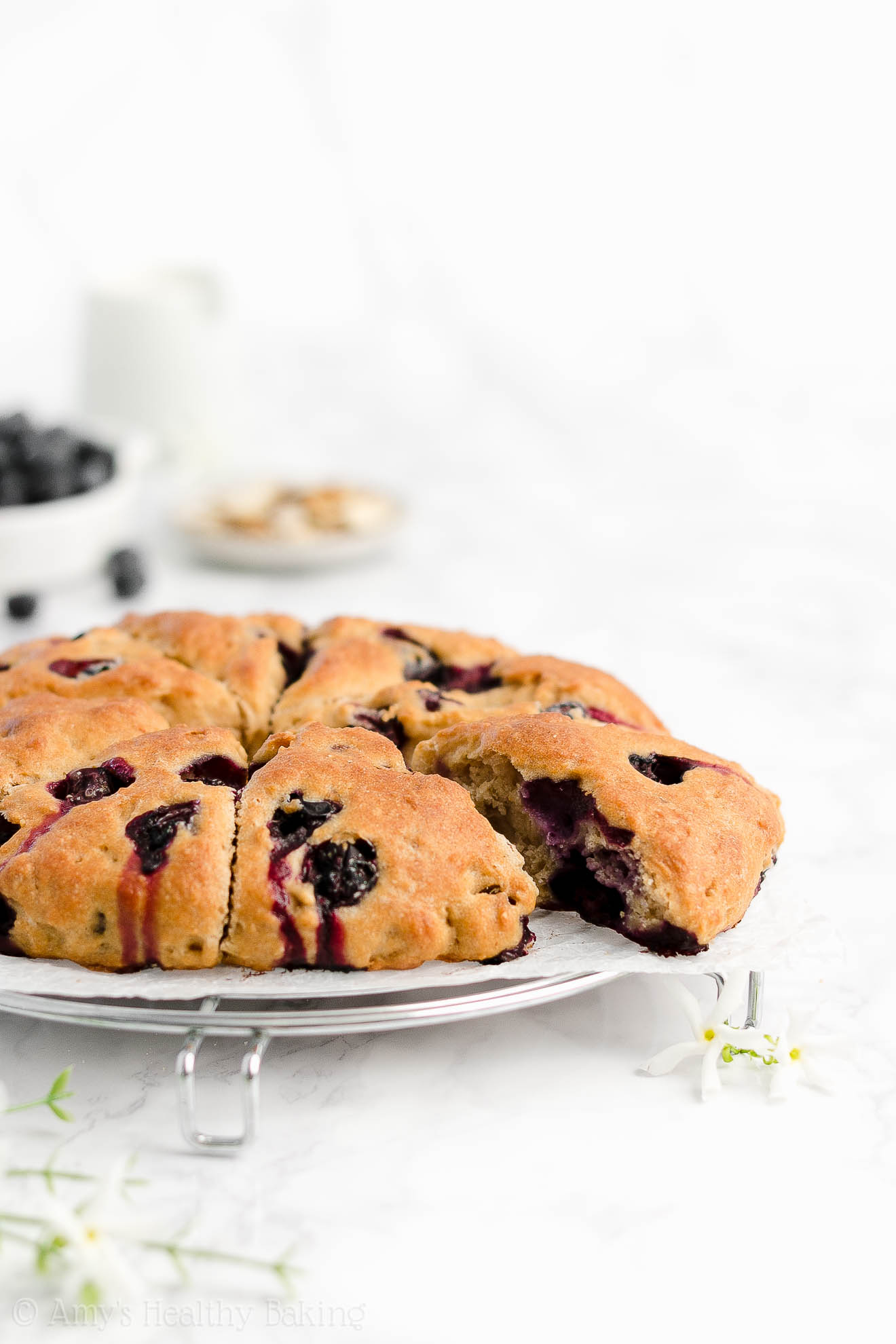 Easy Healthy Weight Watchers Blueberry Almond Scones Without Heavy Cream