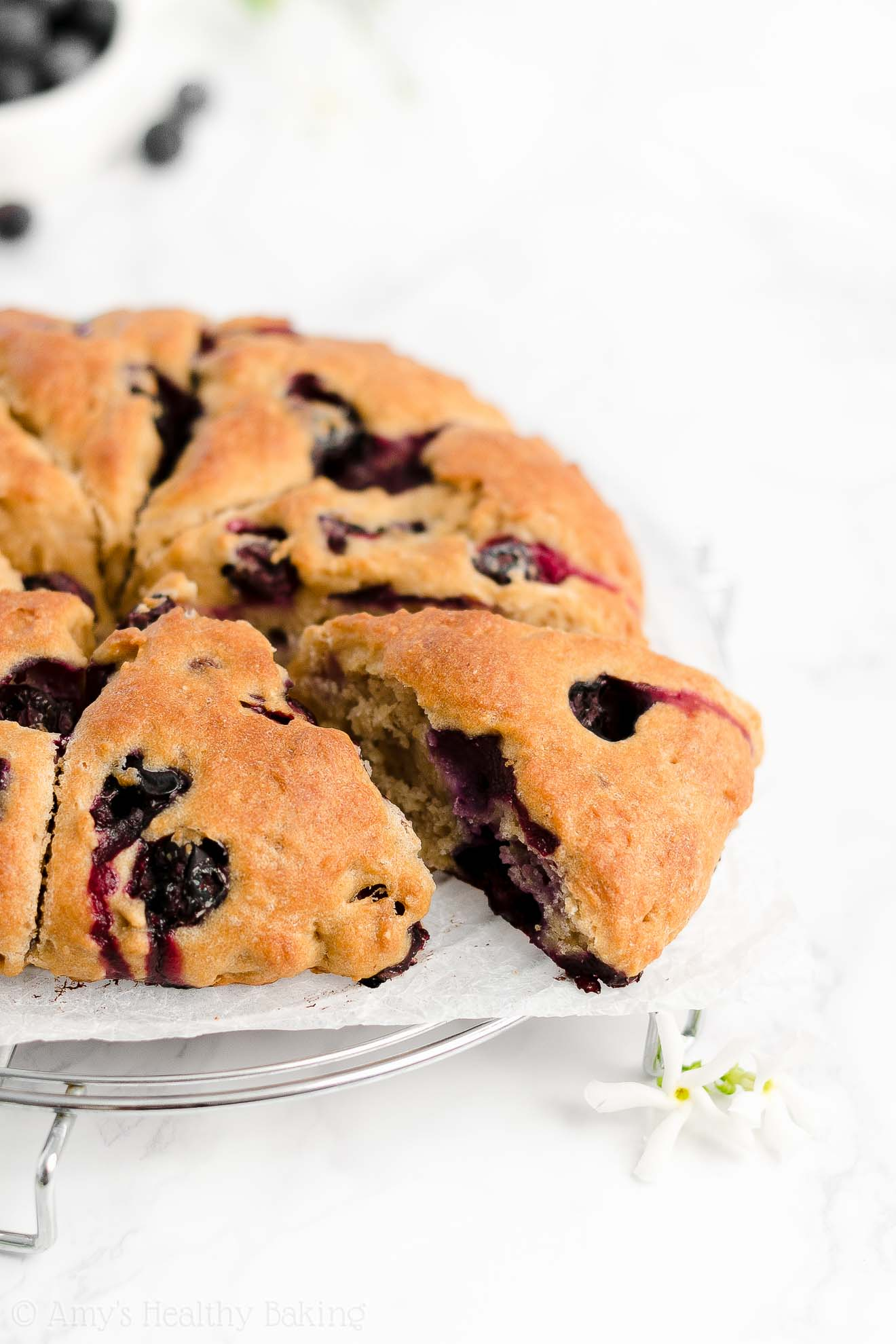 Easy Healthy Gluten Free Vegan Sugar Free Fresh Blueberry Almond Scones