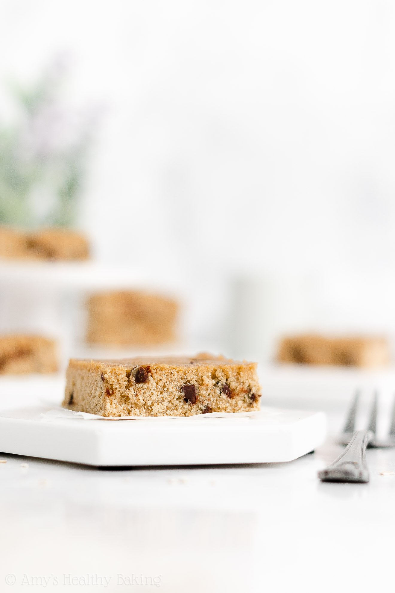 Best Easy Healthy Soft Chewy One Bowl Flourless Chocolate Chip Blondies