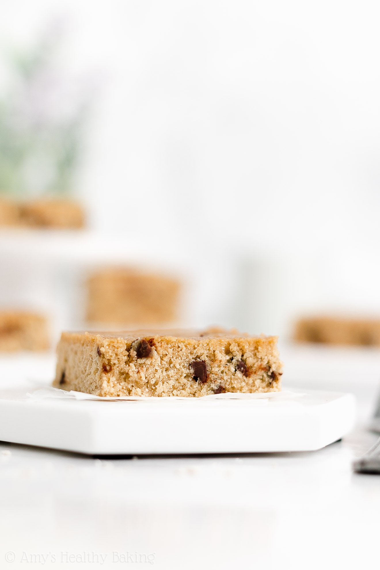Best Easy Healthy Fudgy Vegan One Bowl Flourless Chocolate Chip Blondies