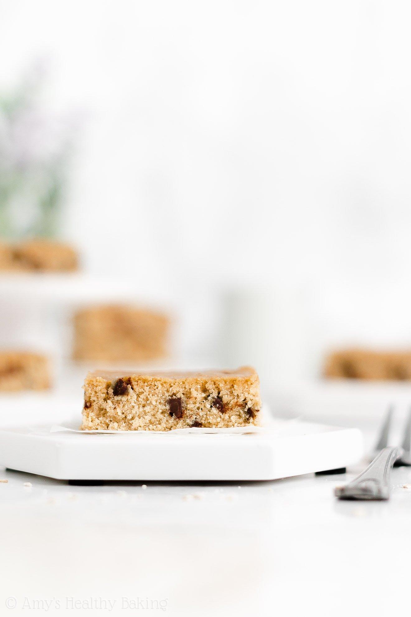 Easy Healthy Gluten Free Dairy Free One Bowl Flourless Chocolate Chip Blondies