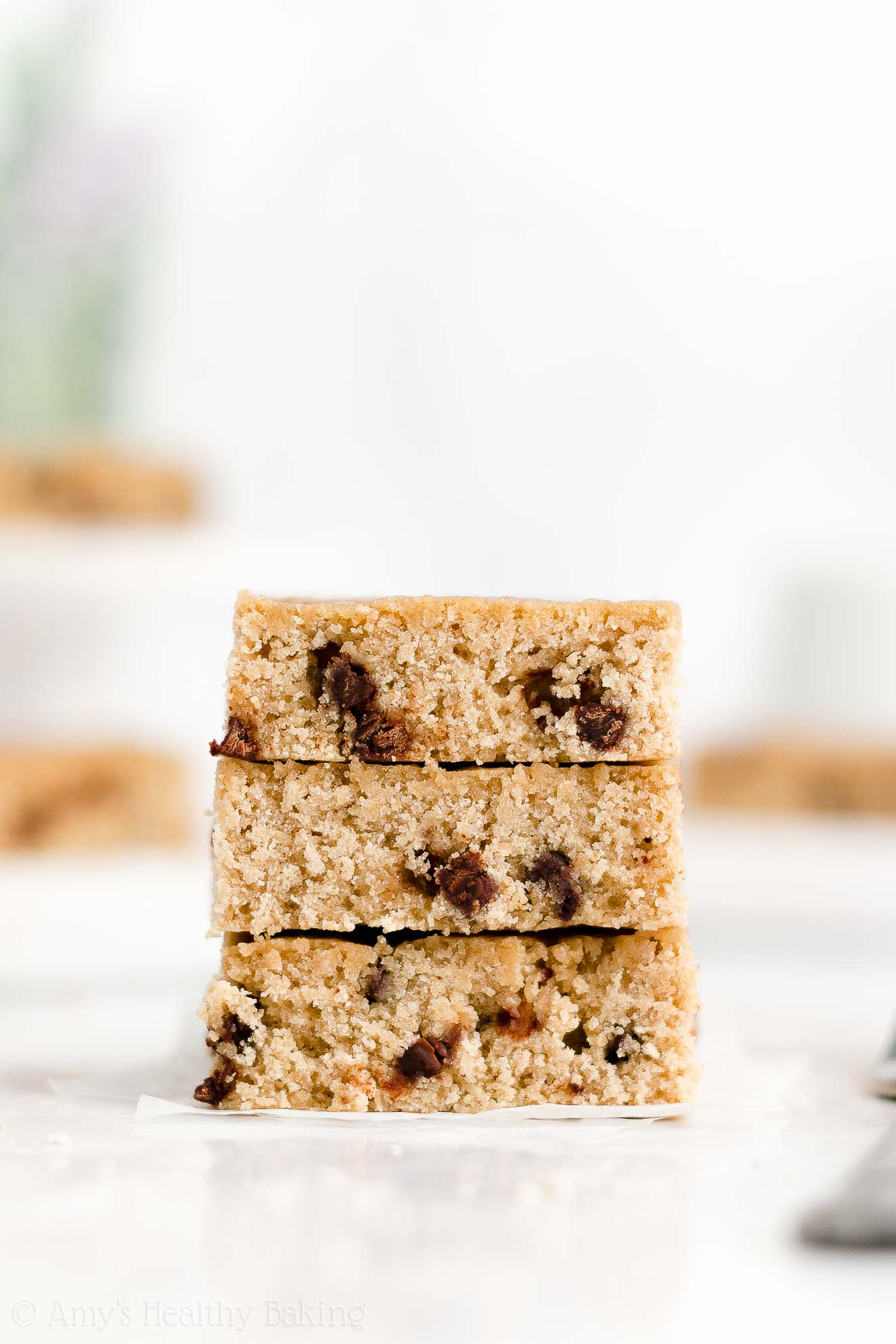 Easy Healthy Dairy Free Classic One Bowl Flourless Chocolate Chip Blondies