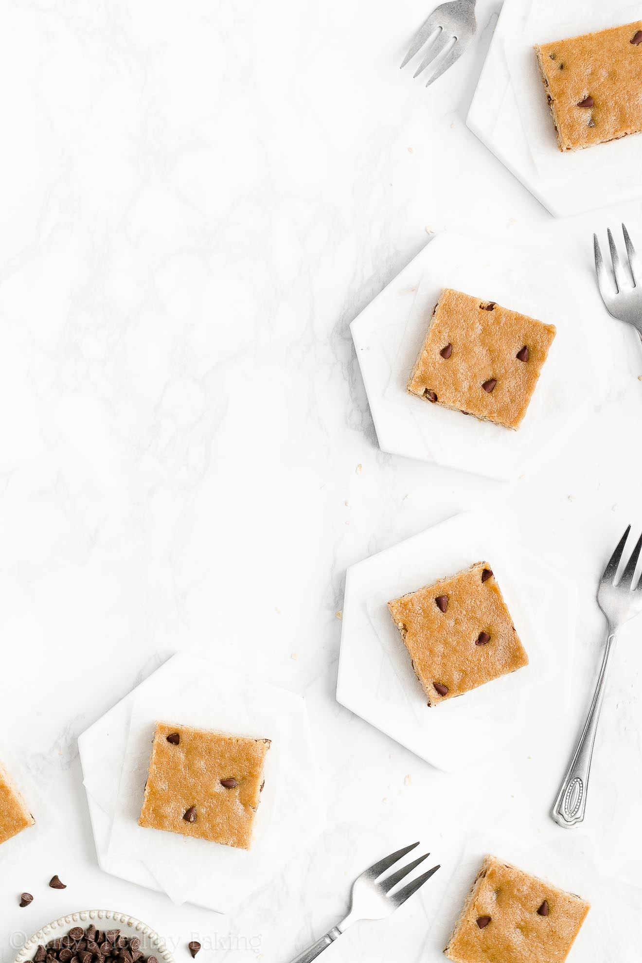 Healthy Clean Eating Weight Watchers One Bowl Flourless Chocolate Chip Blondies