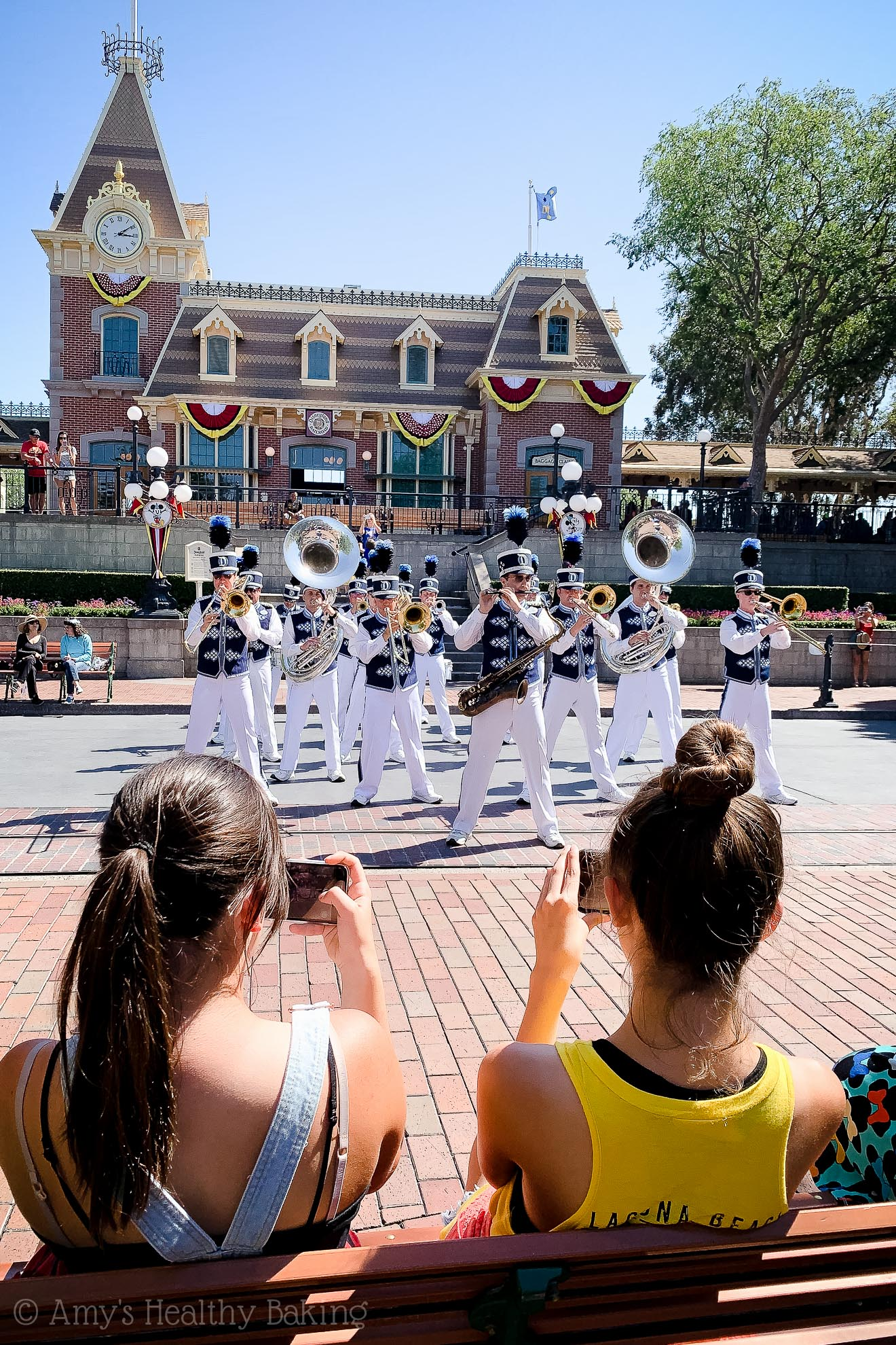 Disneyland Band performing on Main Street! In Anaheim, California