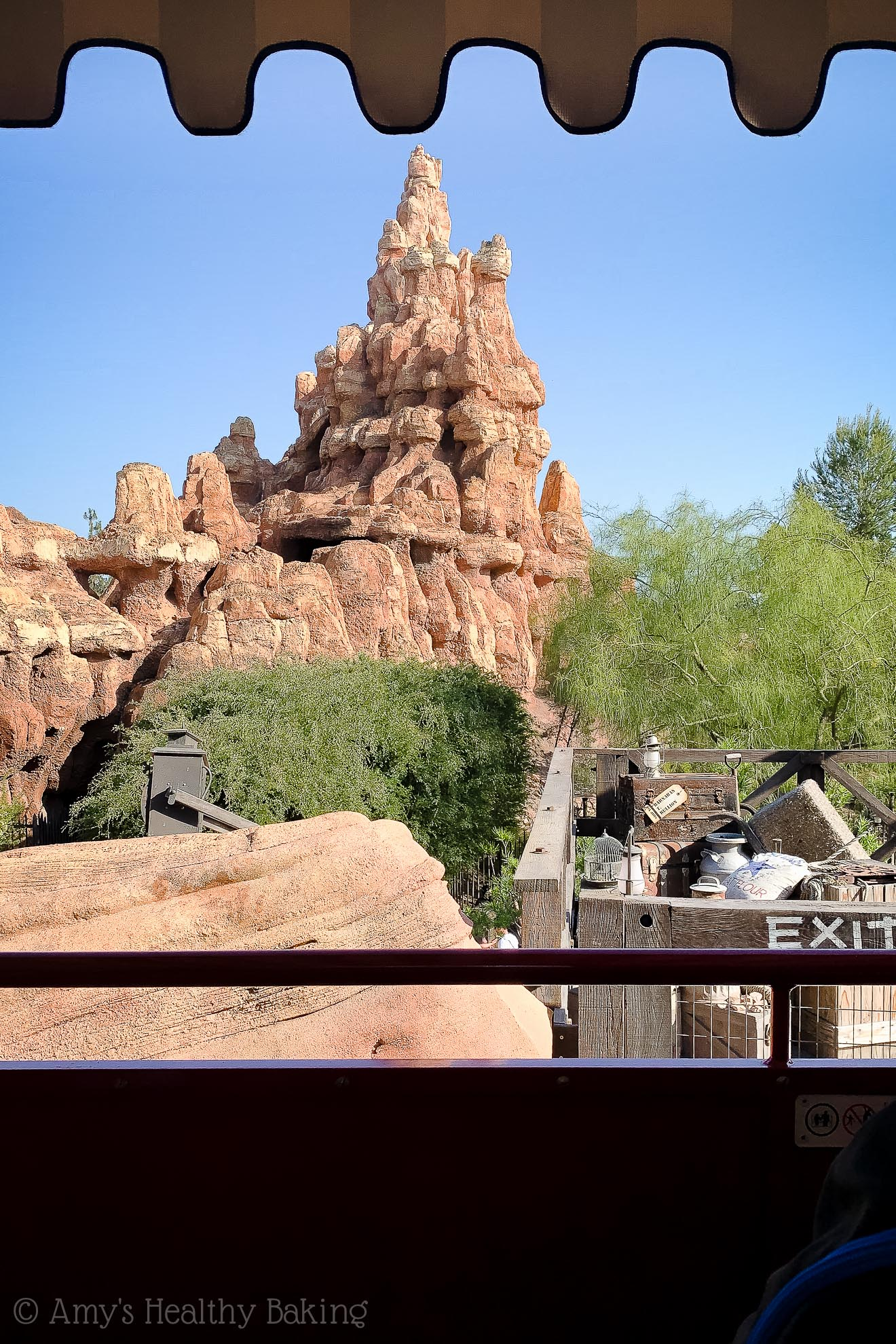 Thunder mountain from the Disneyland express train - Anaheim, California