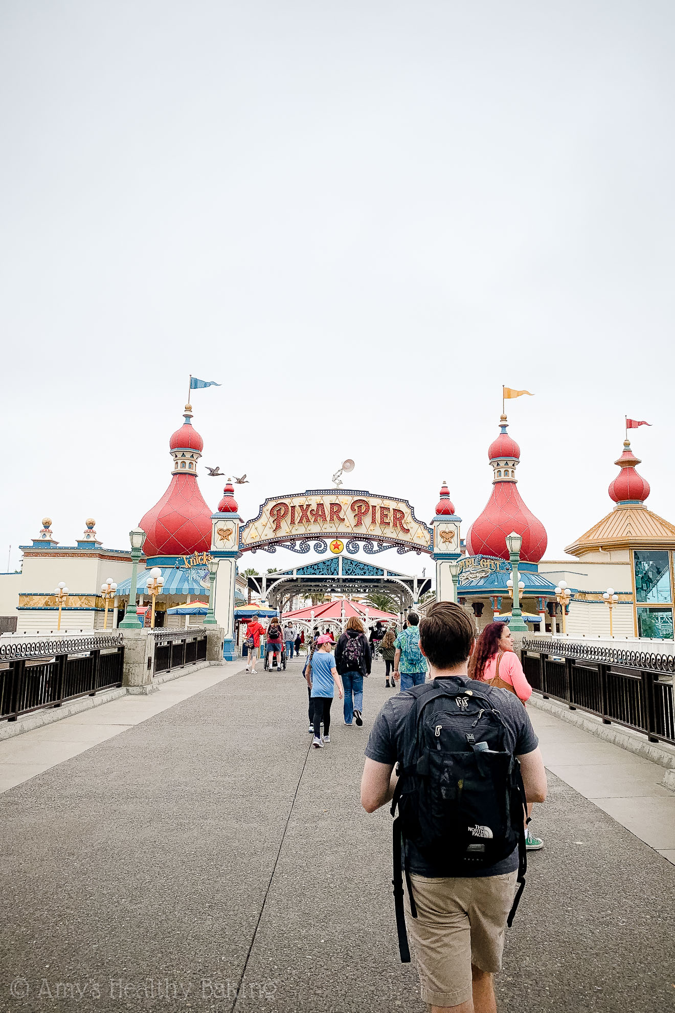 The entrance to Pixar Pier in California Adventure