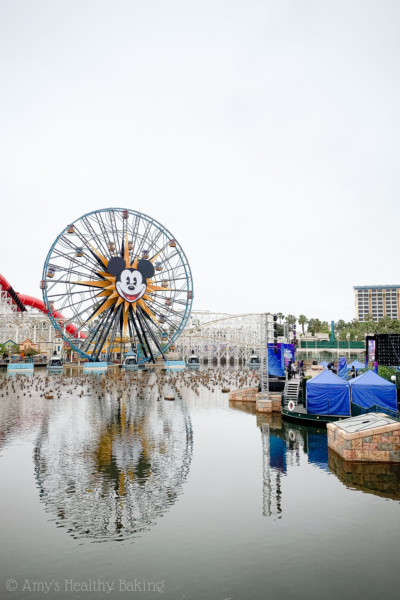 Pixar Pier and the Mickey Mouse Ferris Wheel in California Adventure, Anaheim