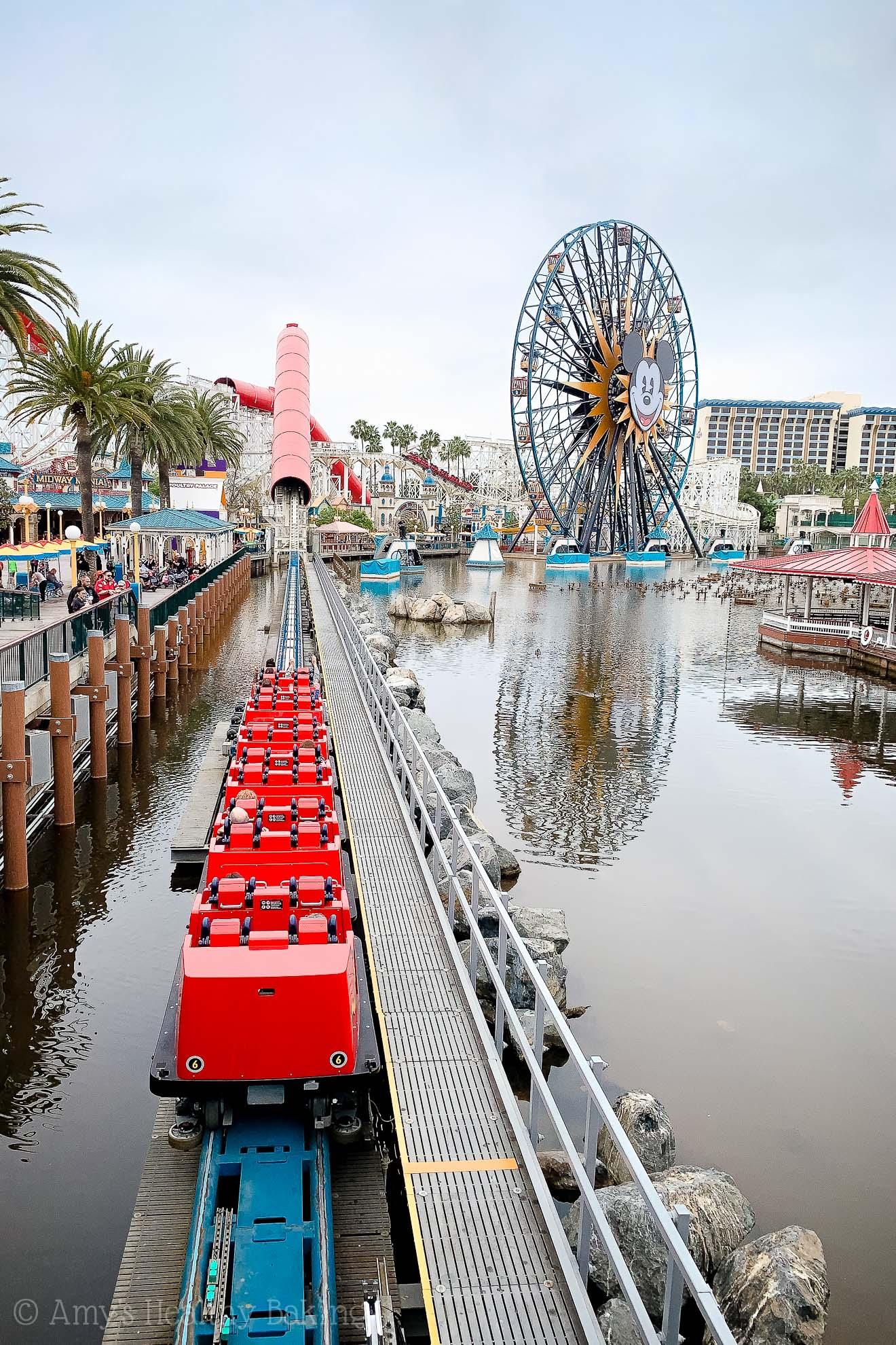 The starting launch of the Incredi-coaster in California Adventure - Anaheim