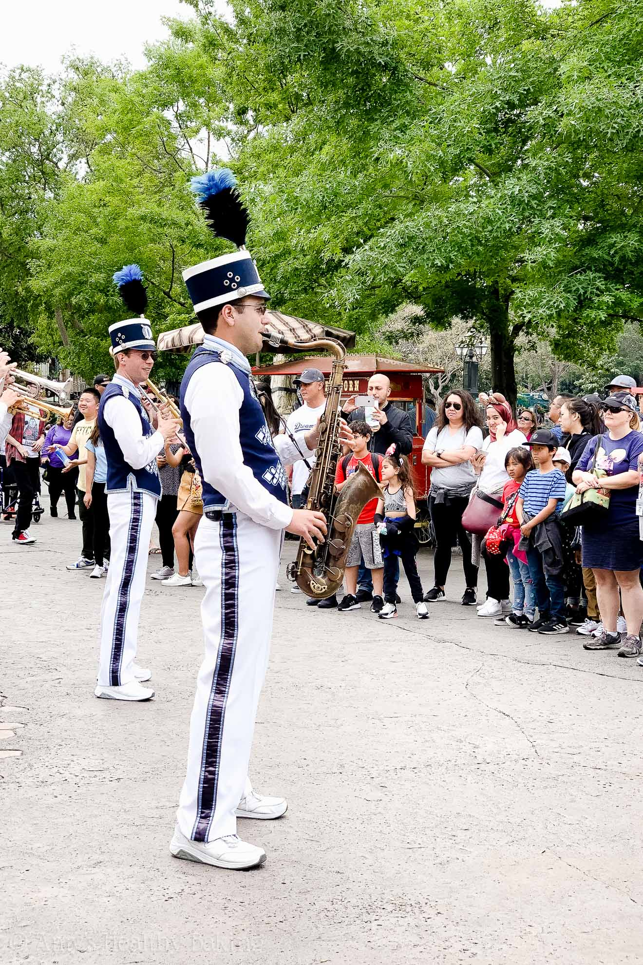 Michael Czaja playing tenor sax in the Disneyland Band - Anaheim