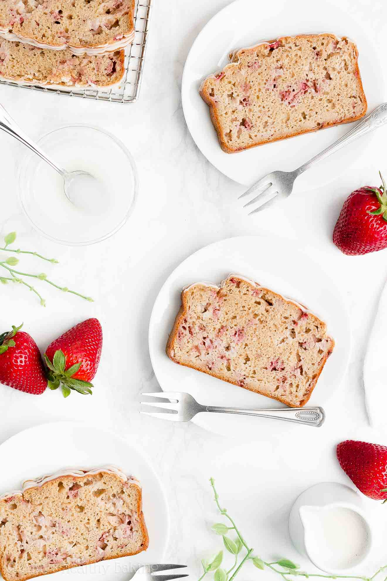 Easy Healthy Sugar Free Moist Homemade Fresh Strawberry Pound Cake