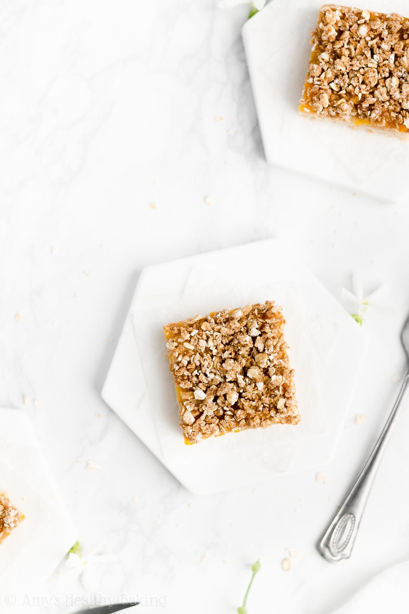 Best Easy Healthy Gluten Free Dairy Free Fresh Peach Oatmeal Crumble Bars