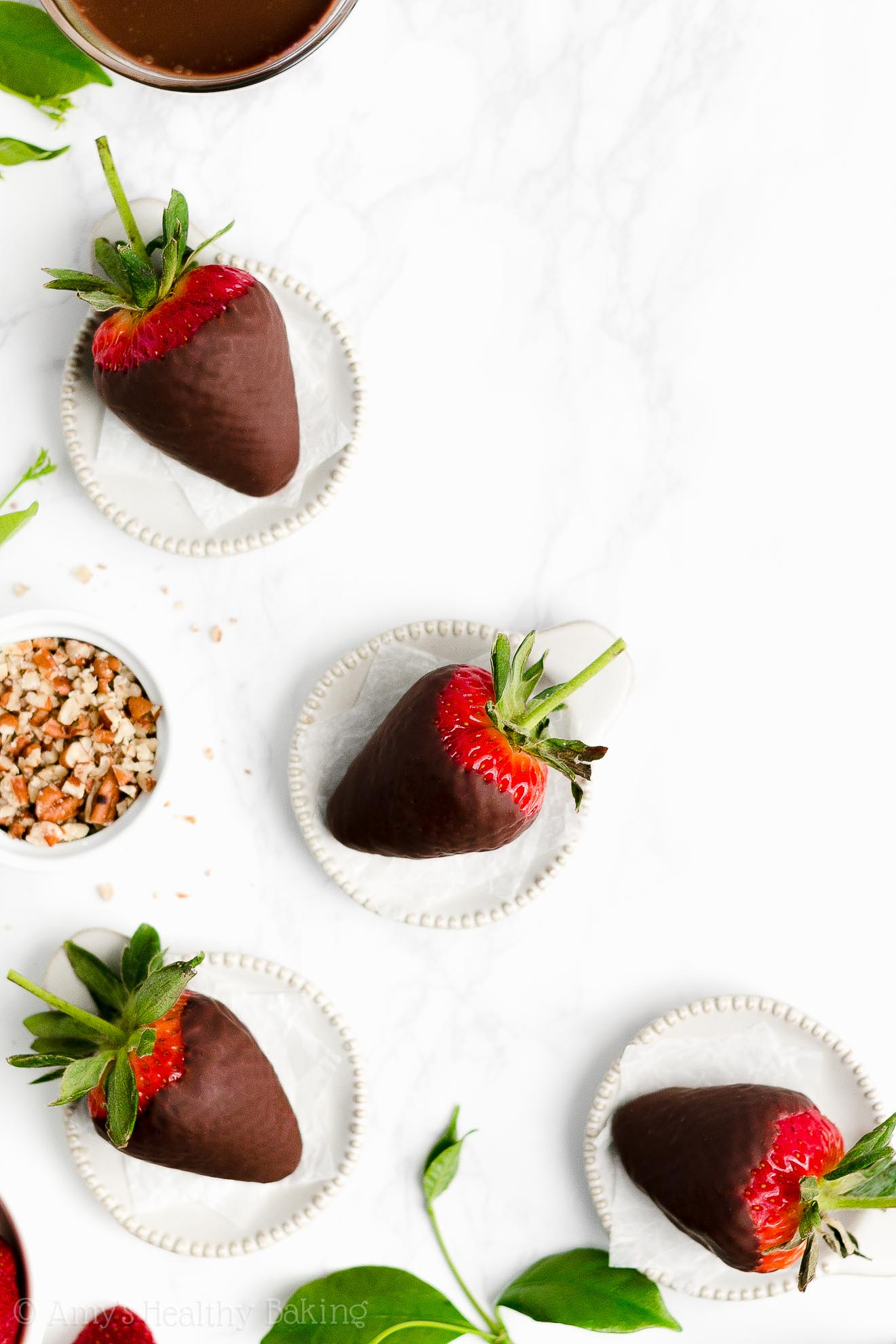 Perfect, BEST EVER Healthy Clean Eating Low Sugar Chocolate Covered Strawberries