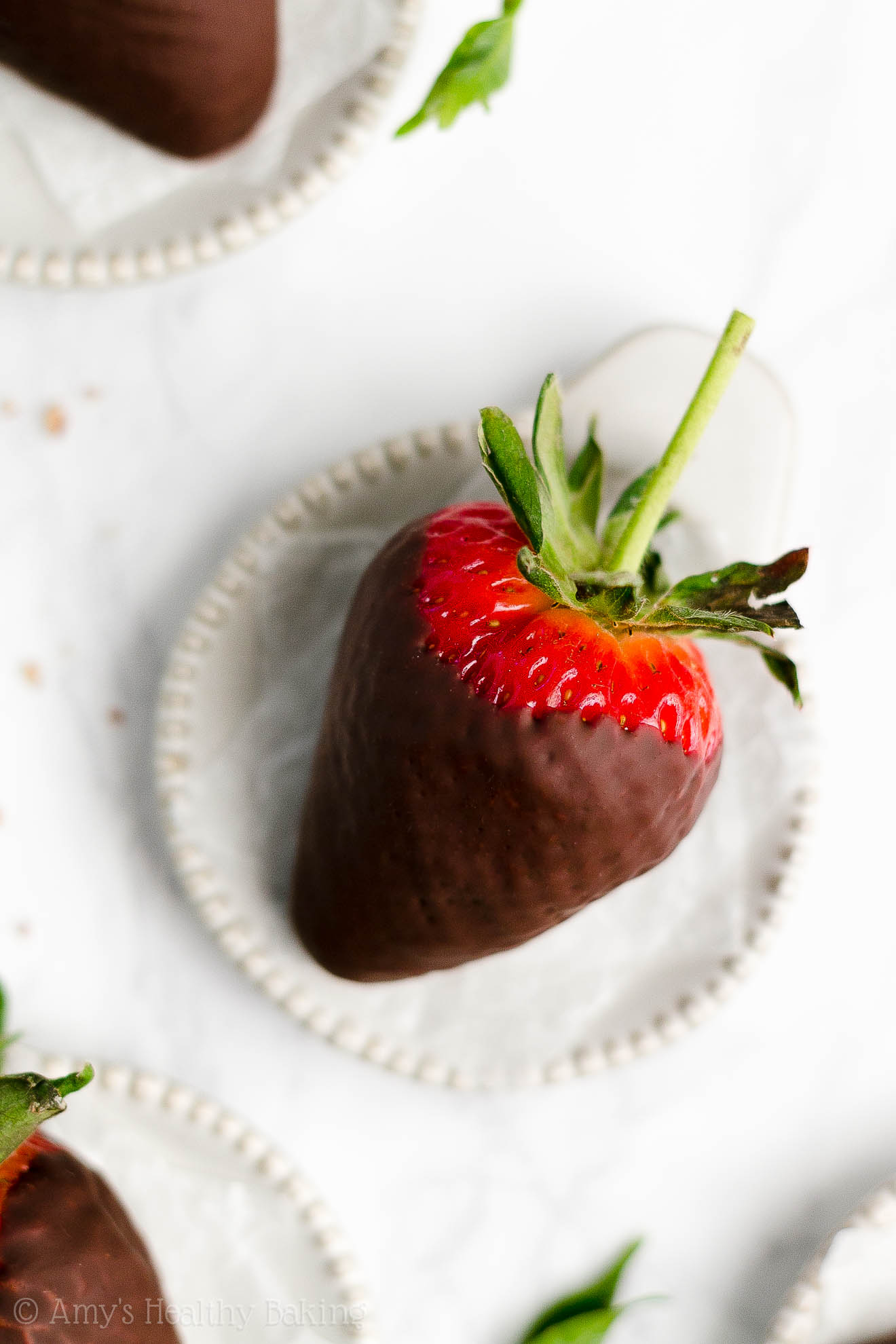 Perfect, BEST EVER Low Calorie Dairy Free Healthy Chocolate Covered Strawberries