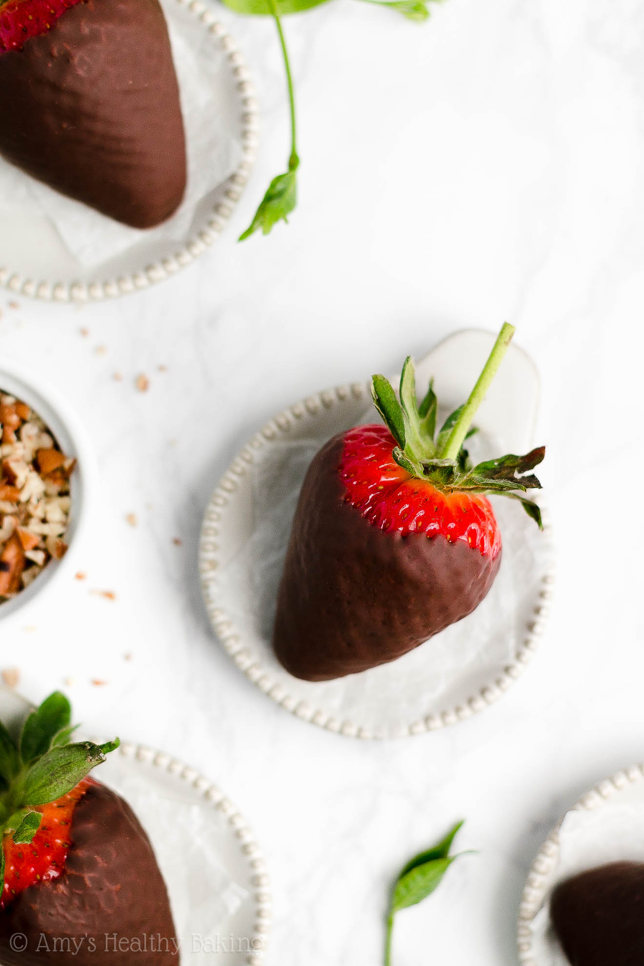 Perfect, BEST EVER Gluten Free Dairy Free Healthy Chocolate Covered Strawberries