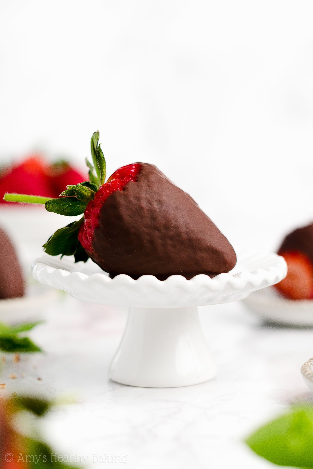 Perfect, BEST EVER Homemade Weight Watchers Chocolate Covered Strawberries