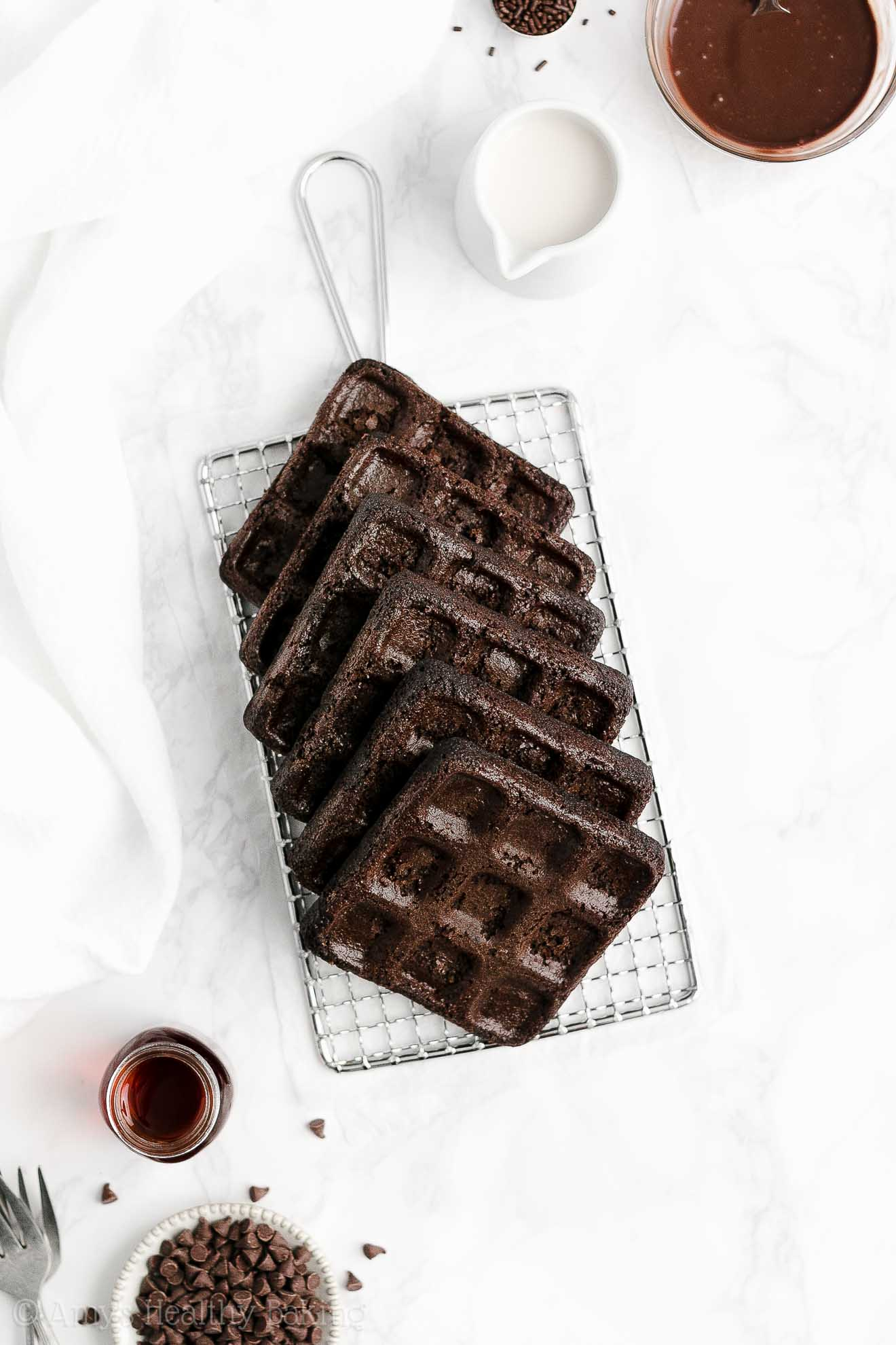 ULTIMATE Healthy Gluten Free Low Fat Low Sugar Fluffy Chocolate Waffles