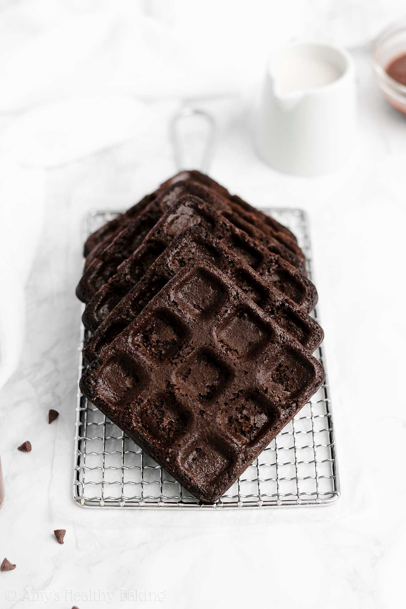 ULTIMATE Healthy Low Fat Low Sugar Weight Watchers Dark Chocolate Waffles