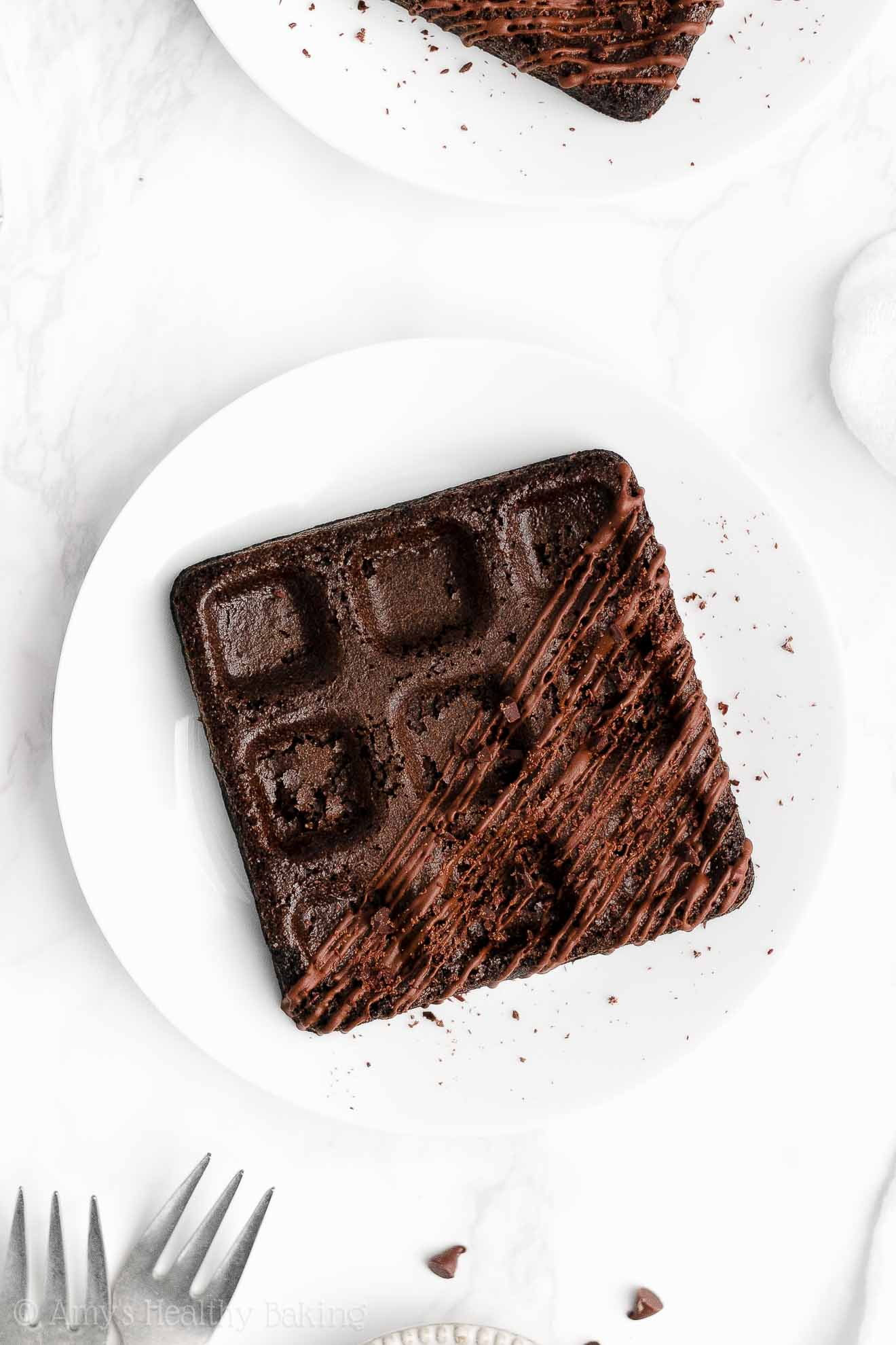 ULTIMATE Healthy Clean Low Calorie Homemade Baked Dark Chocolate Waffles