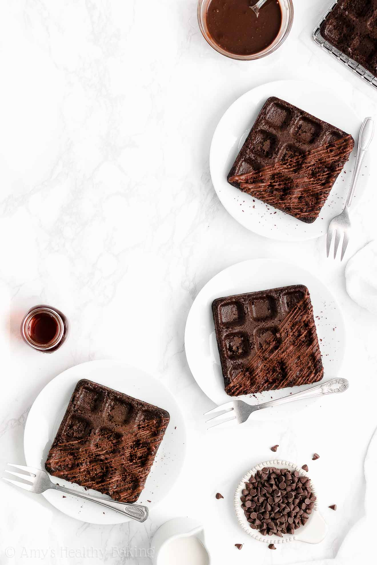 Ultimate Healthy Whole Wheat Low Calorie Greek Yogurt Chocolate Waffles