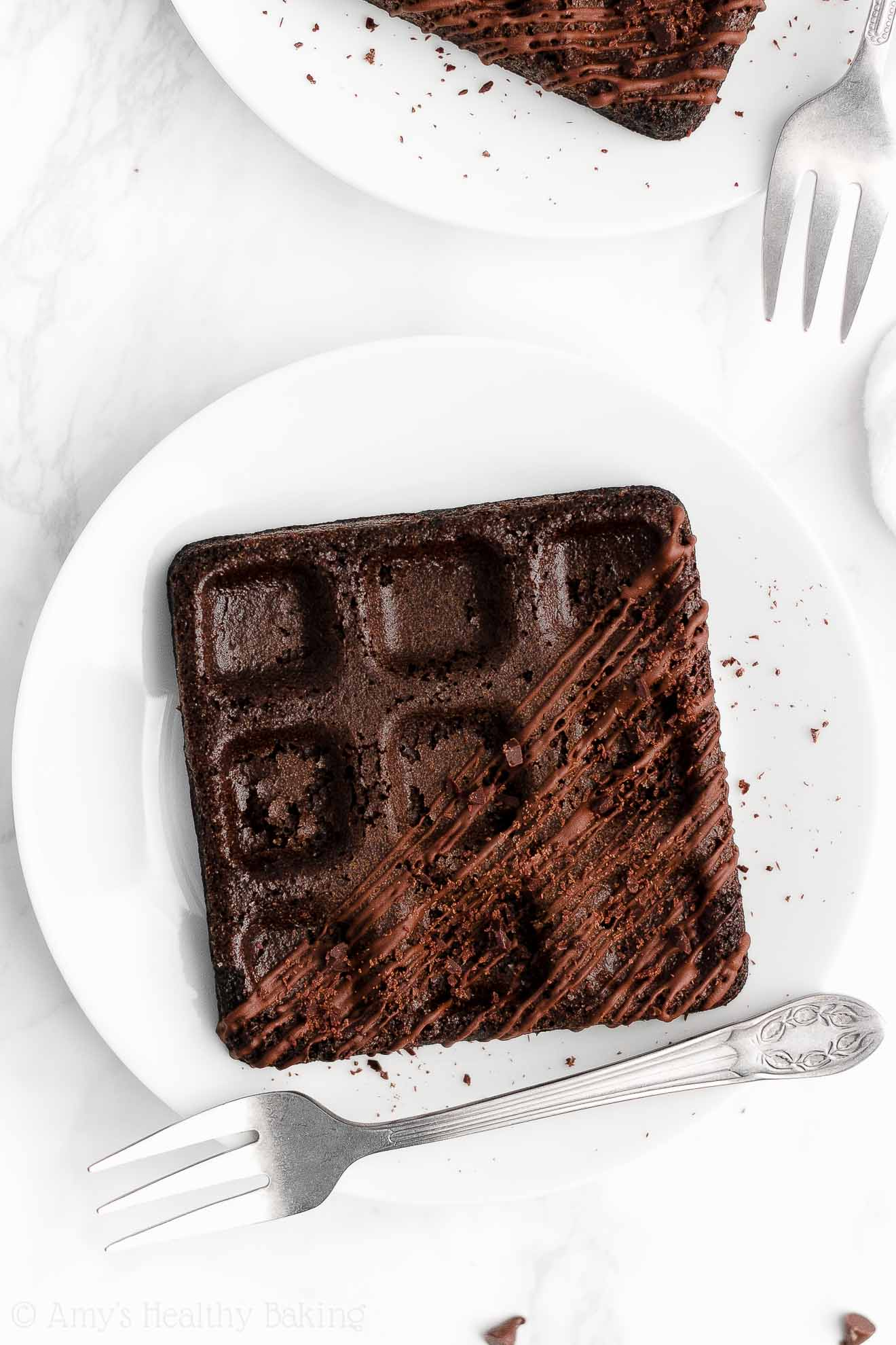 ULTIMATE Healthy Whole Wheat Low Calorie No Sugar Dark Chocolate Waffles