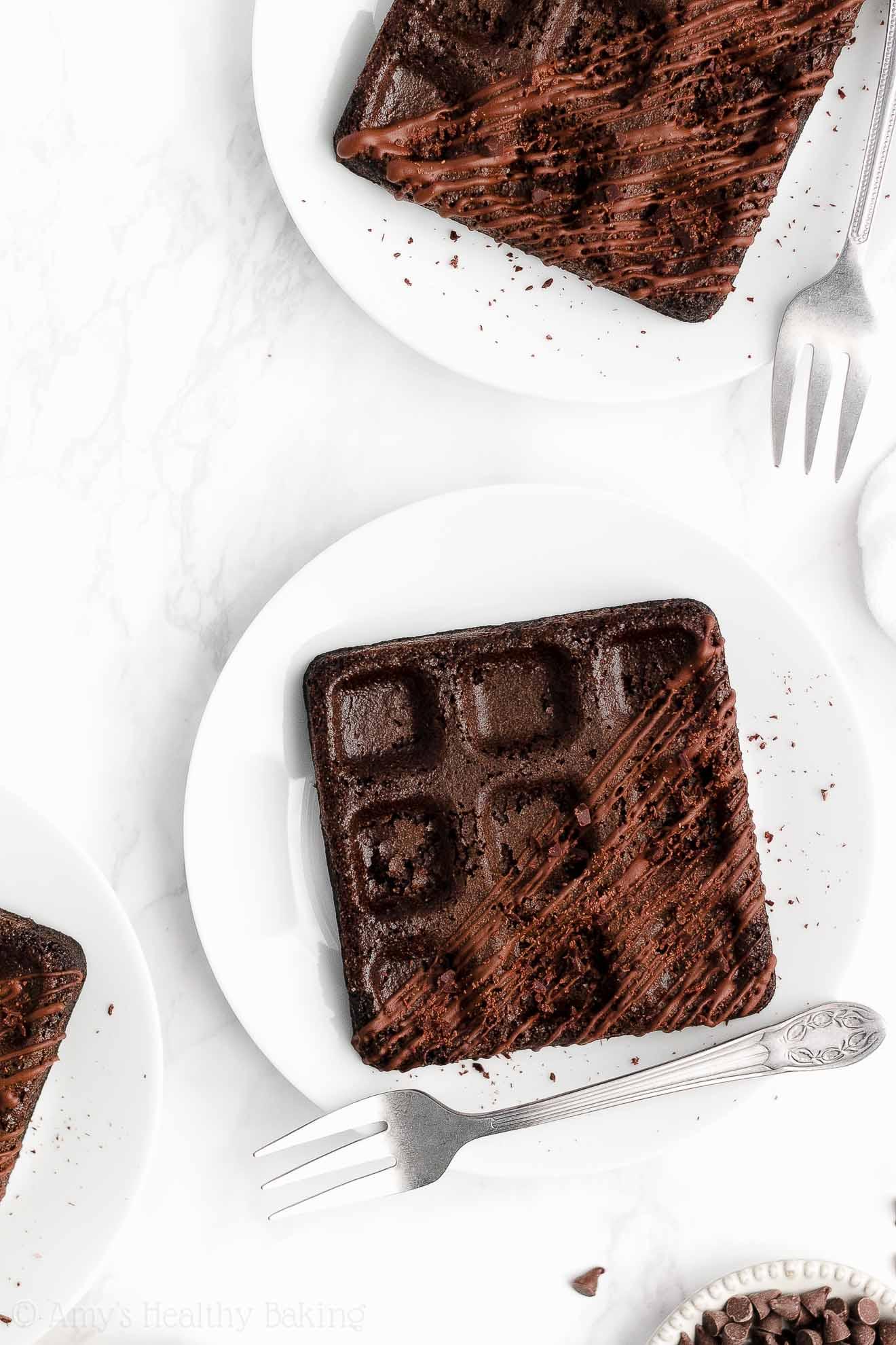 ULTIMATE Healthy Gluten Free Greek Yogurt Low Calorie Dark Chocolate Waffles