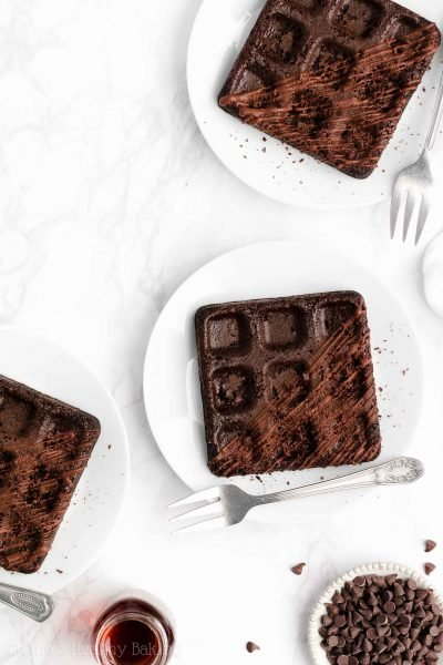 The Ultimate Healthy Chocolate Waffles
