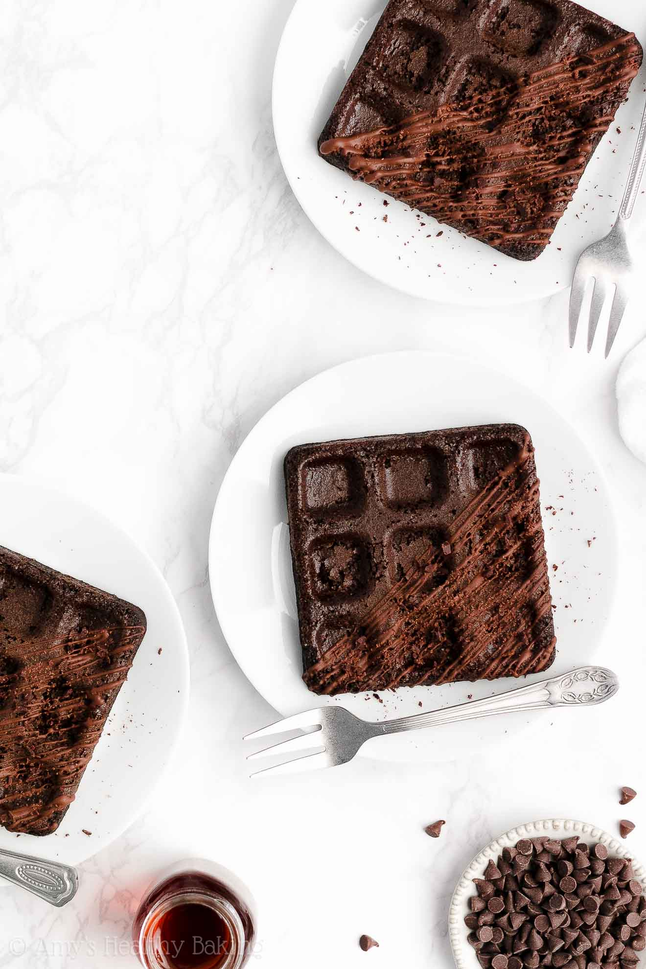 ULTIMATE Best Healthy Clean Eating Crispy Fluffy No Sugar Chocolate Waffles