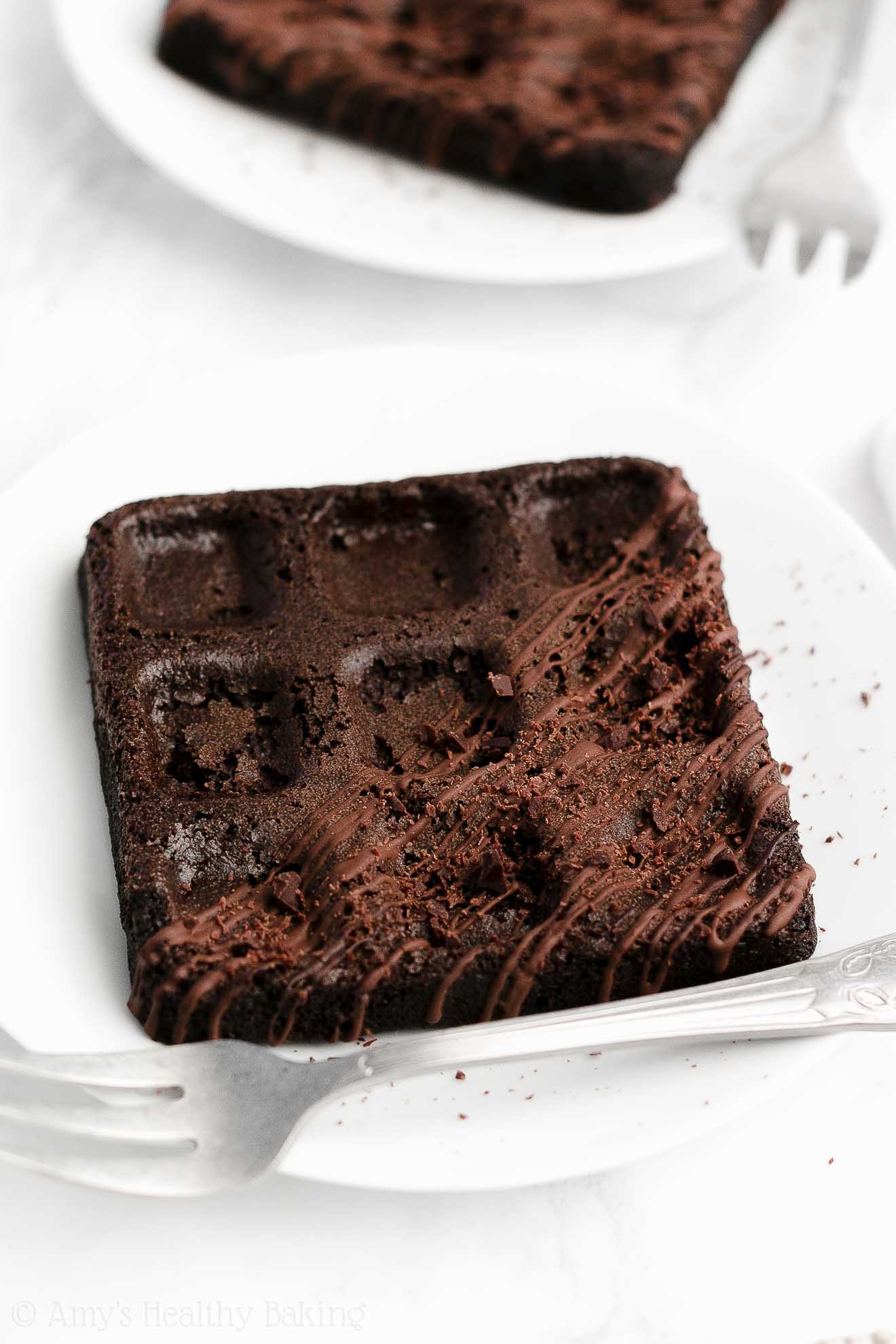 ULTIMATE Healthy Clean Eating Weight Watchers Baked Dark Chocolate Waffles