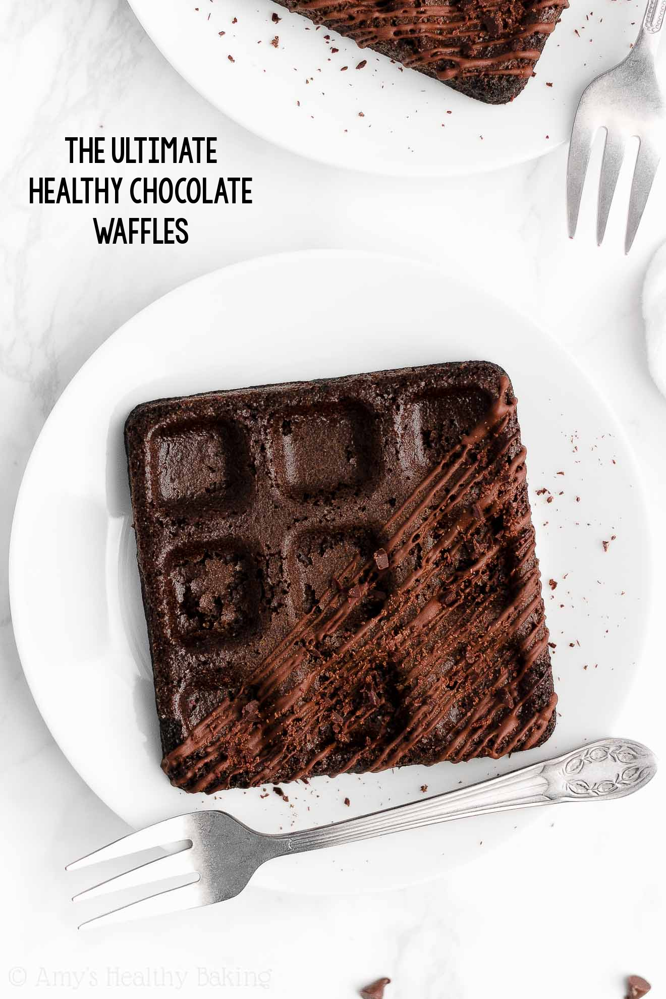 ULTIMATE Best Healthy Clean Eating Gluten Free Dark Chocolate Waffles