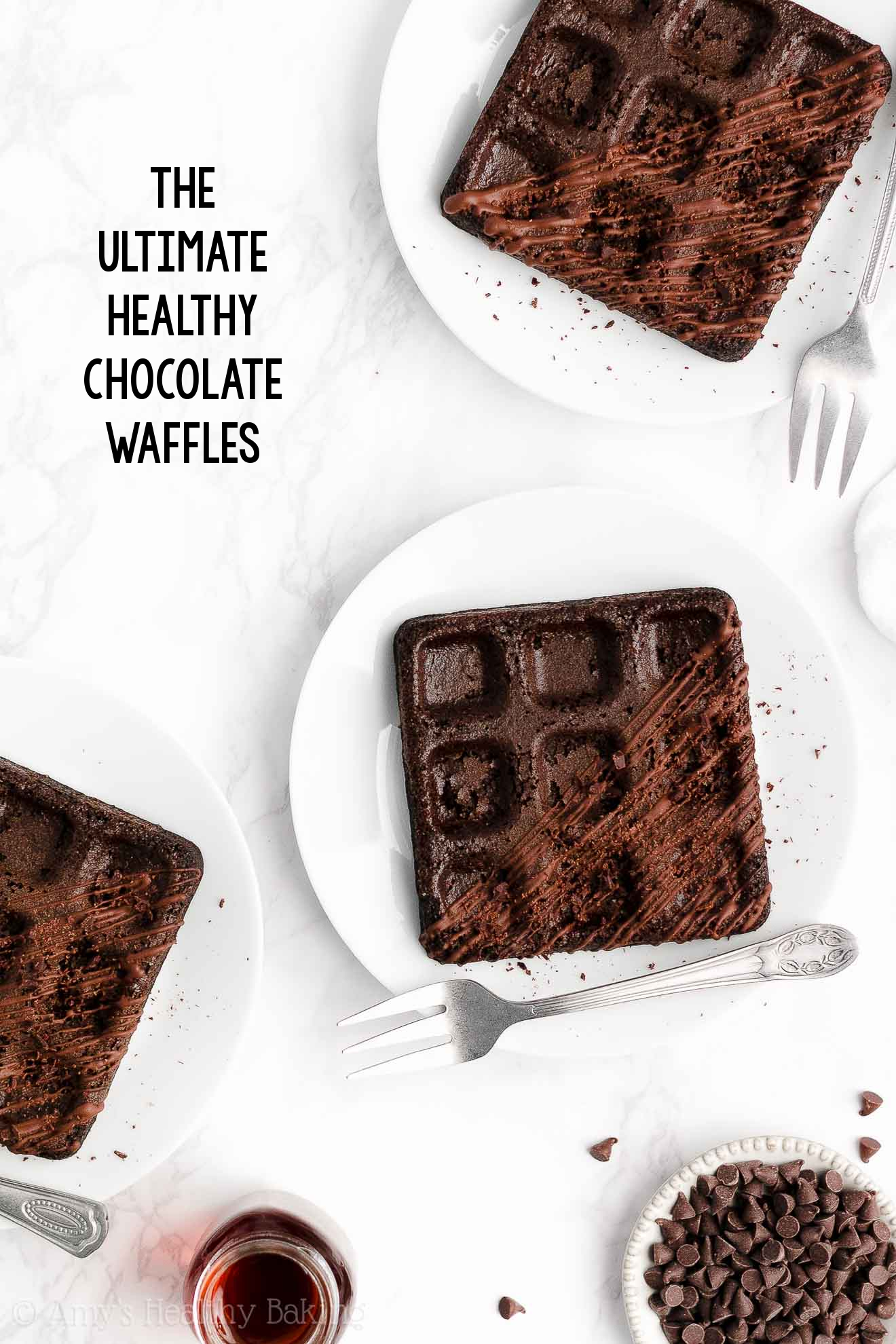 ULTIMATE Best Healthy Homemade Whole Wheat Greek Yogurt Dark Chocolate Waffles