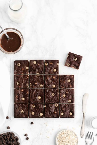 Healthy Flourless Fudgy Chocolate Chip Cookie Dough Brownies