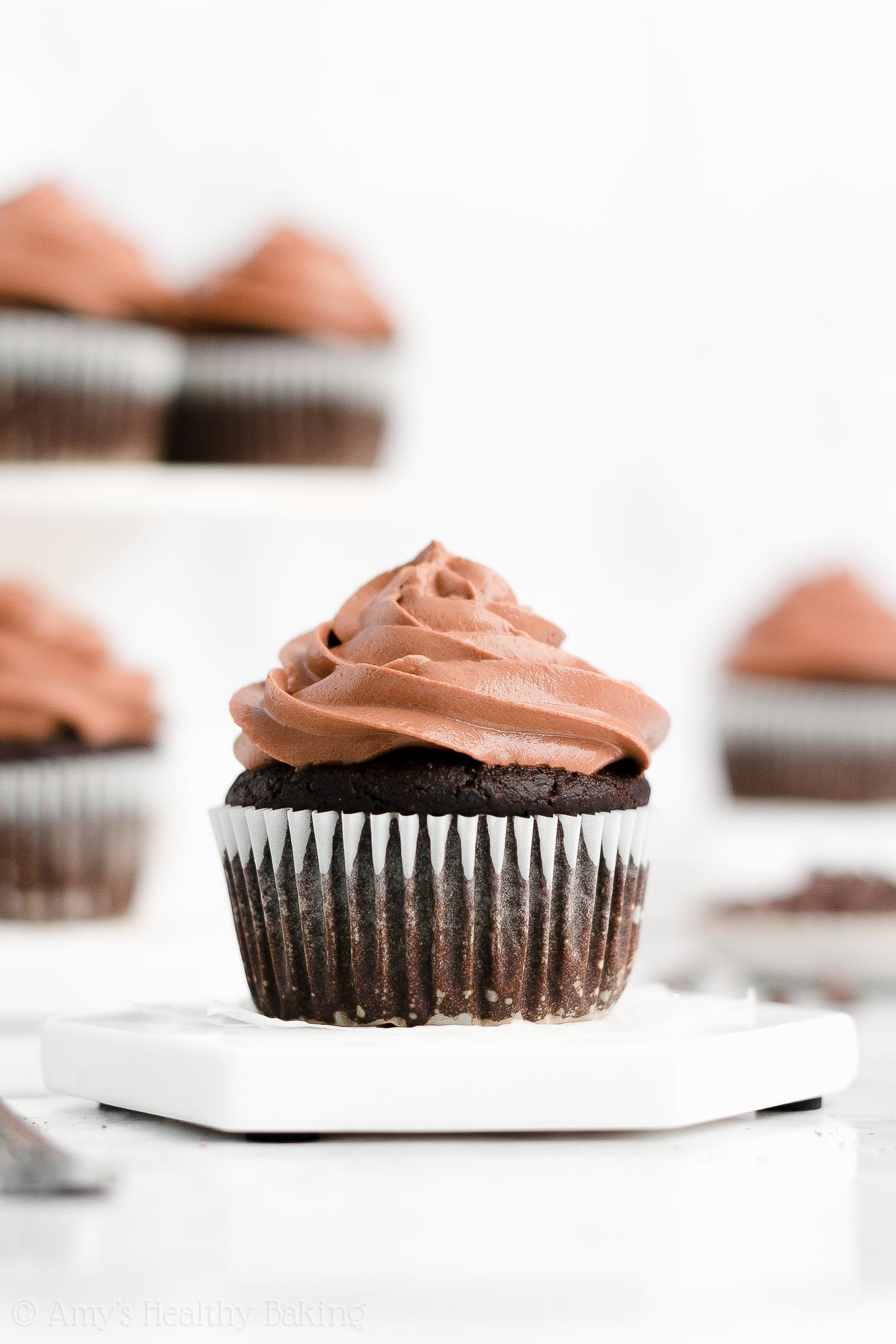 Best Easy Healthy Low Calorie Low Fat No Sugar One-Bowl Chocolate Cupcakes