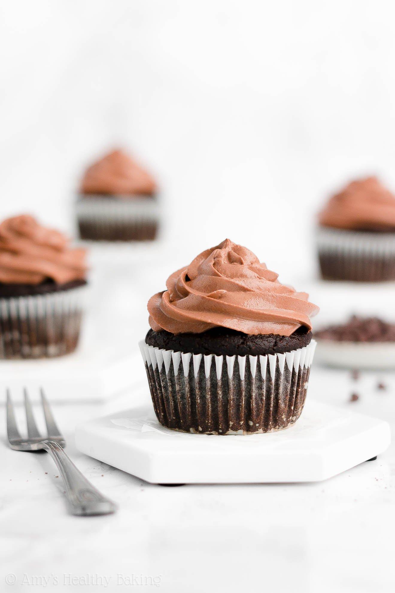 Best Easy Healthy Homemade Super Moist One-Bowl Dark Chocolate Cupcakes