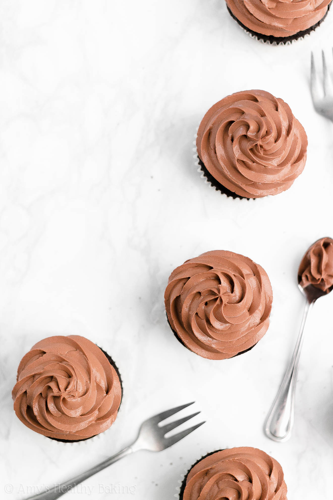 Best Easy Healthy One-Bowl Chocolate Cupcakes with Greek Yogurt Frosting