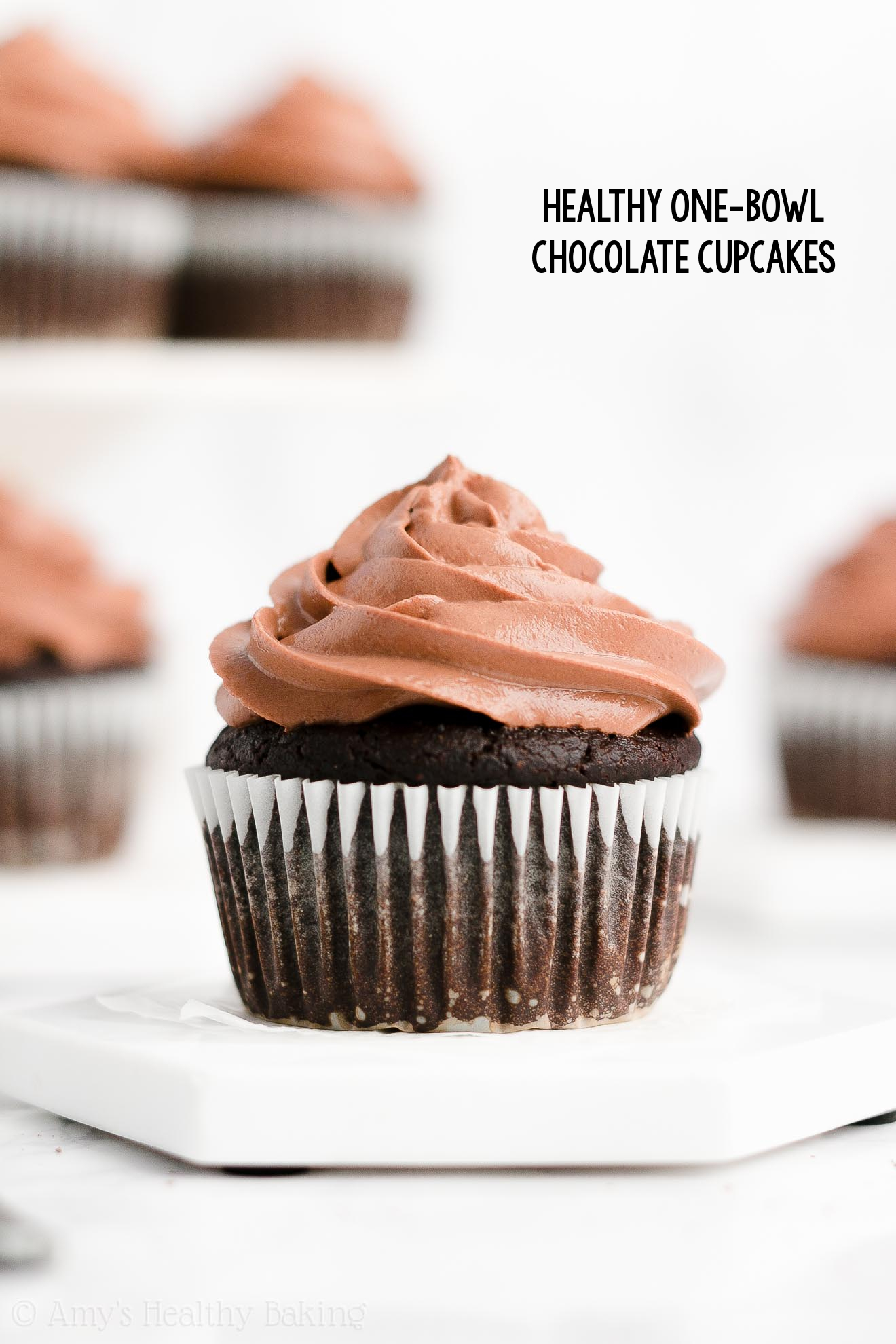 Best Easy Healthy Homemade Gluten Free Moist One-Bowl Chocolate Cupcakes